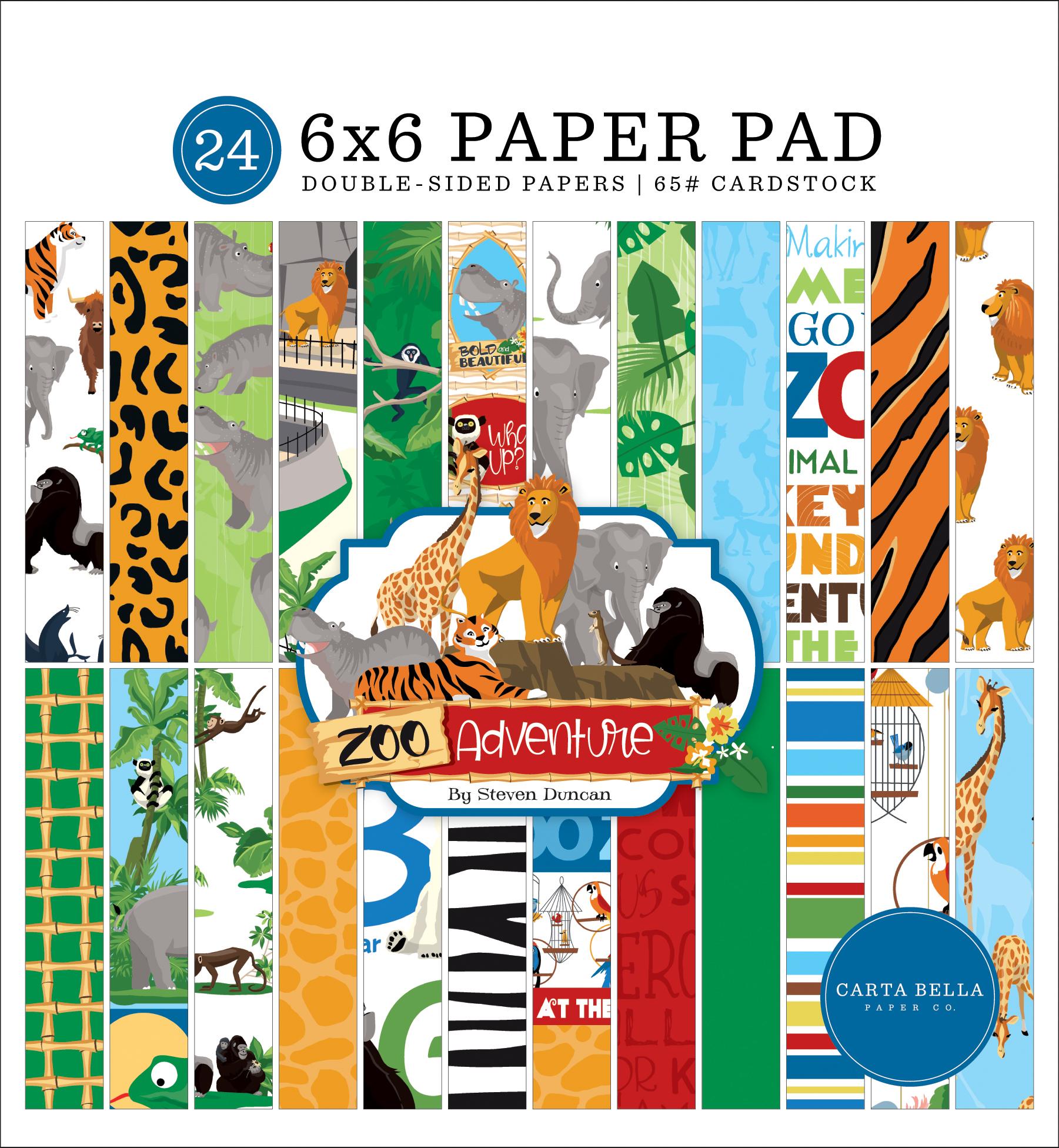 Zoo Adventure: 6x6 Paper Pad