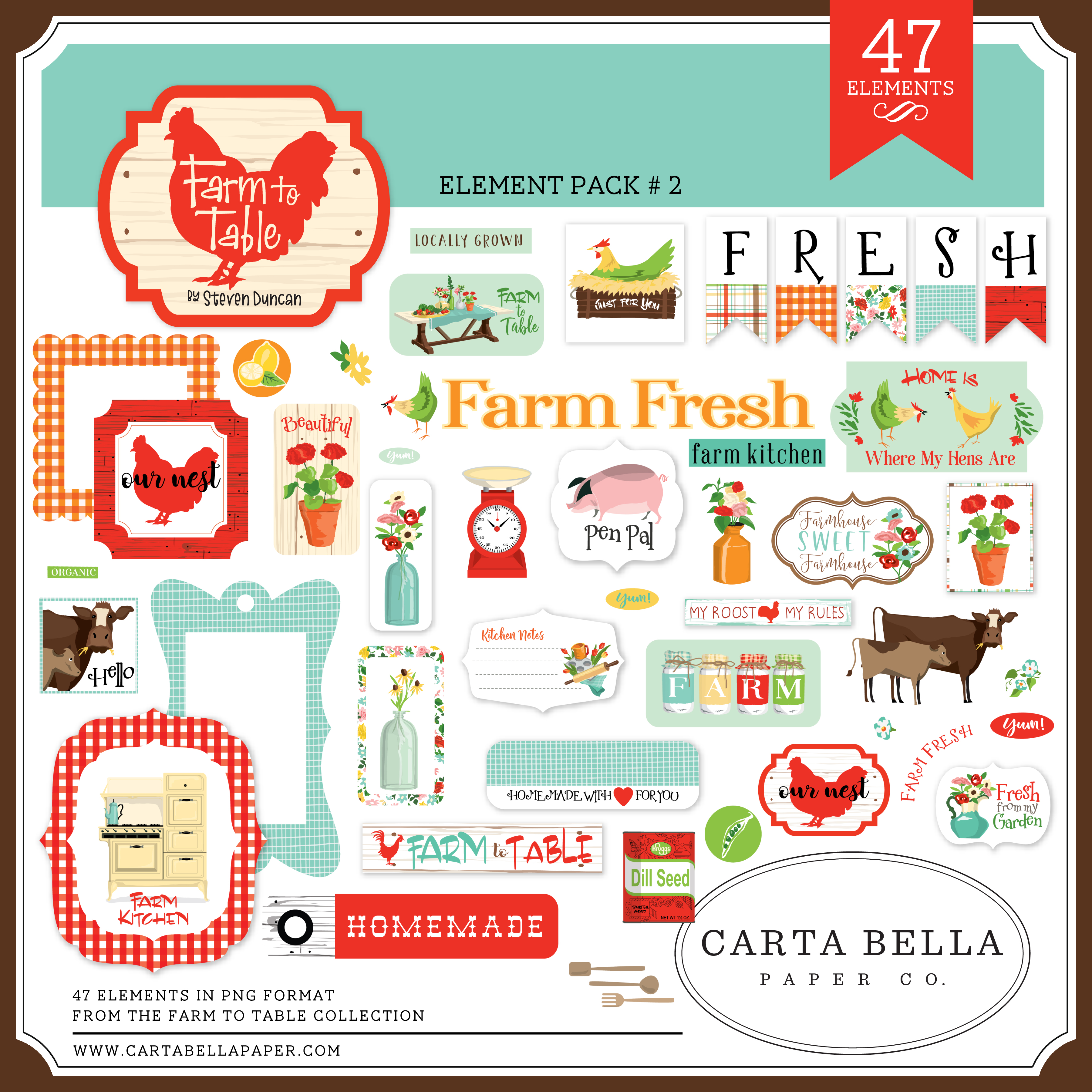 Farm to Table Element Pack #2