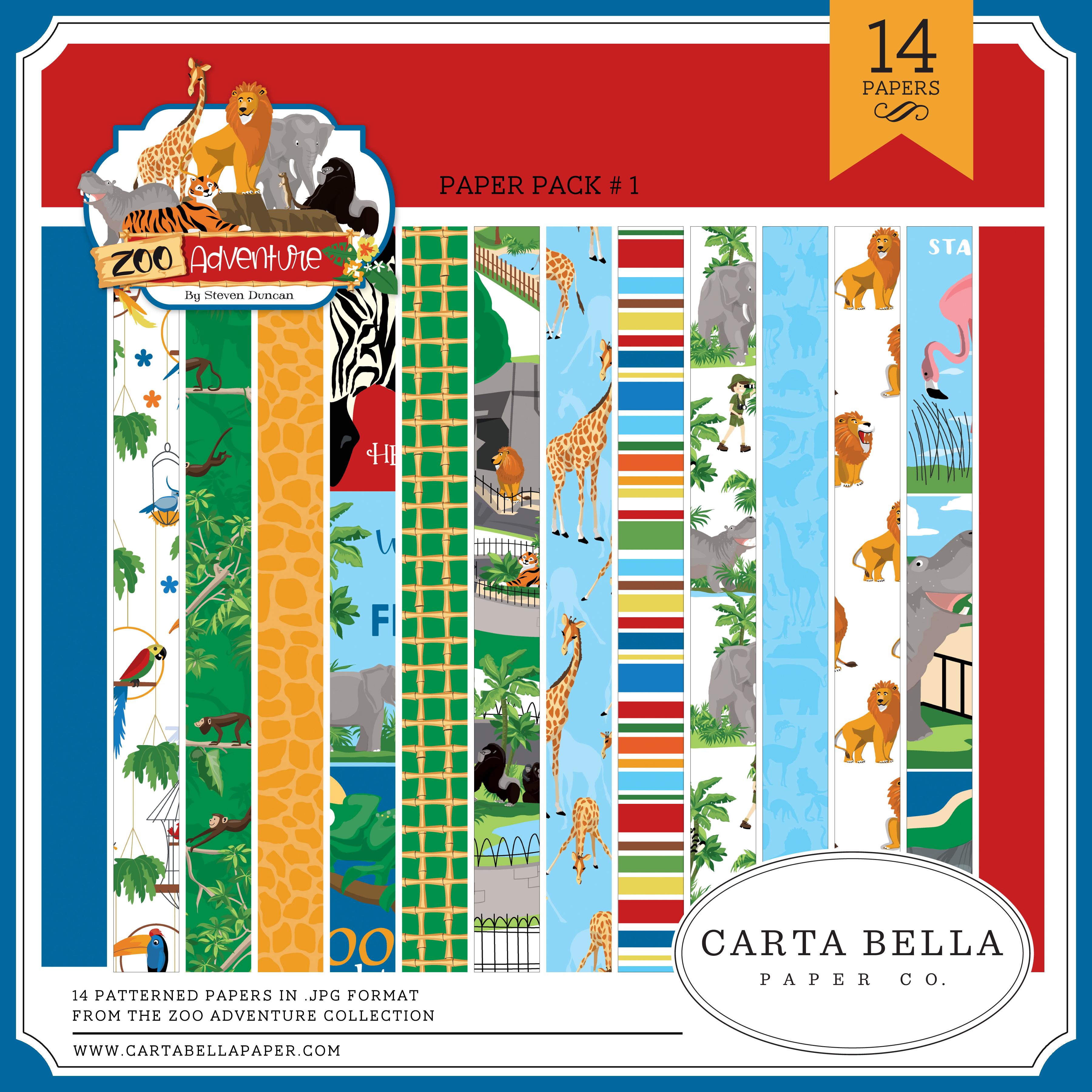 Zoo Adventure Paper Pack #1