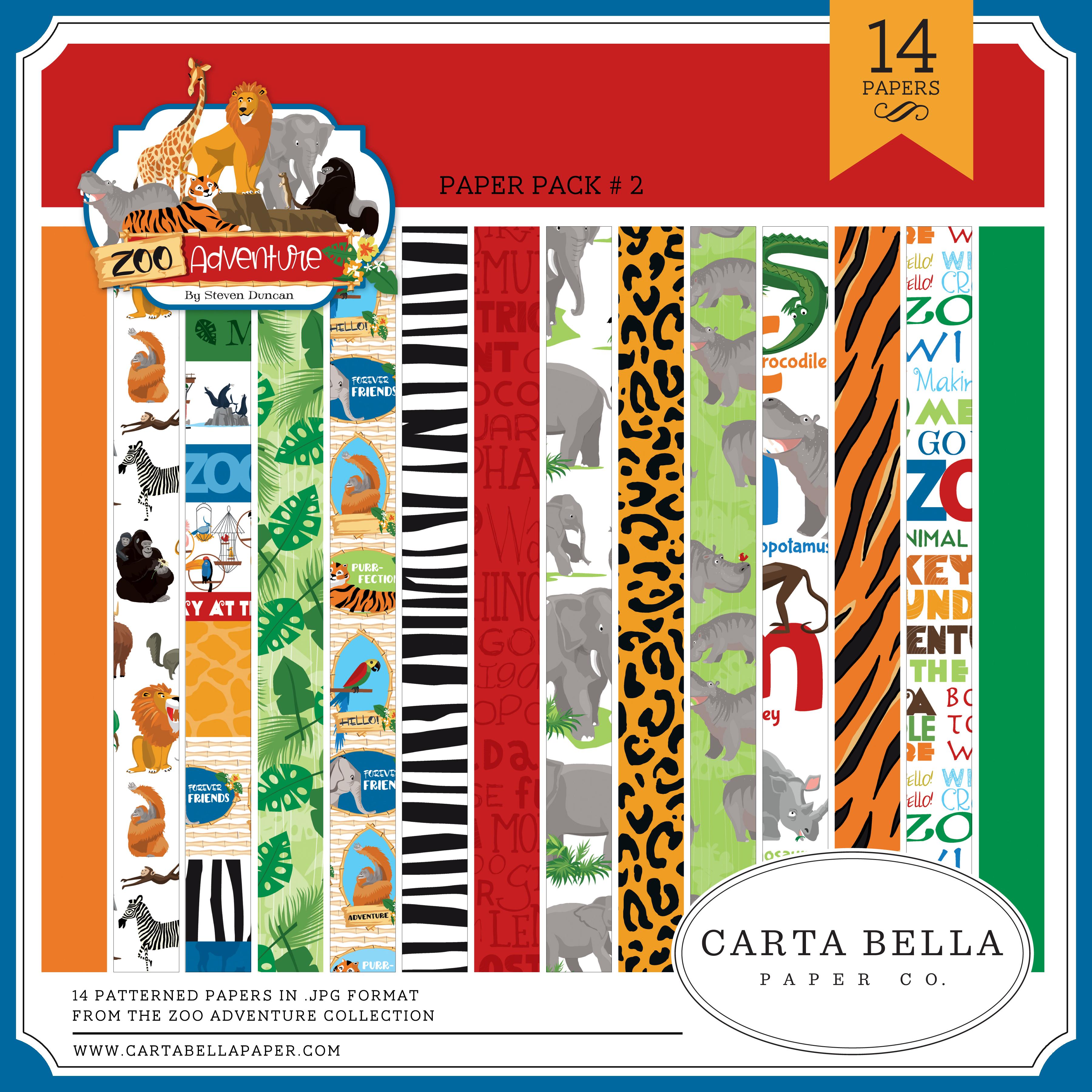 Zoo Adventure Paper Pack #2
