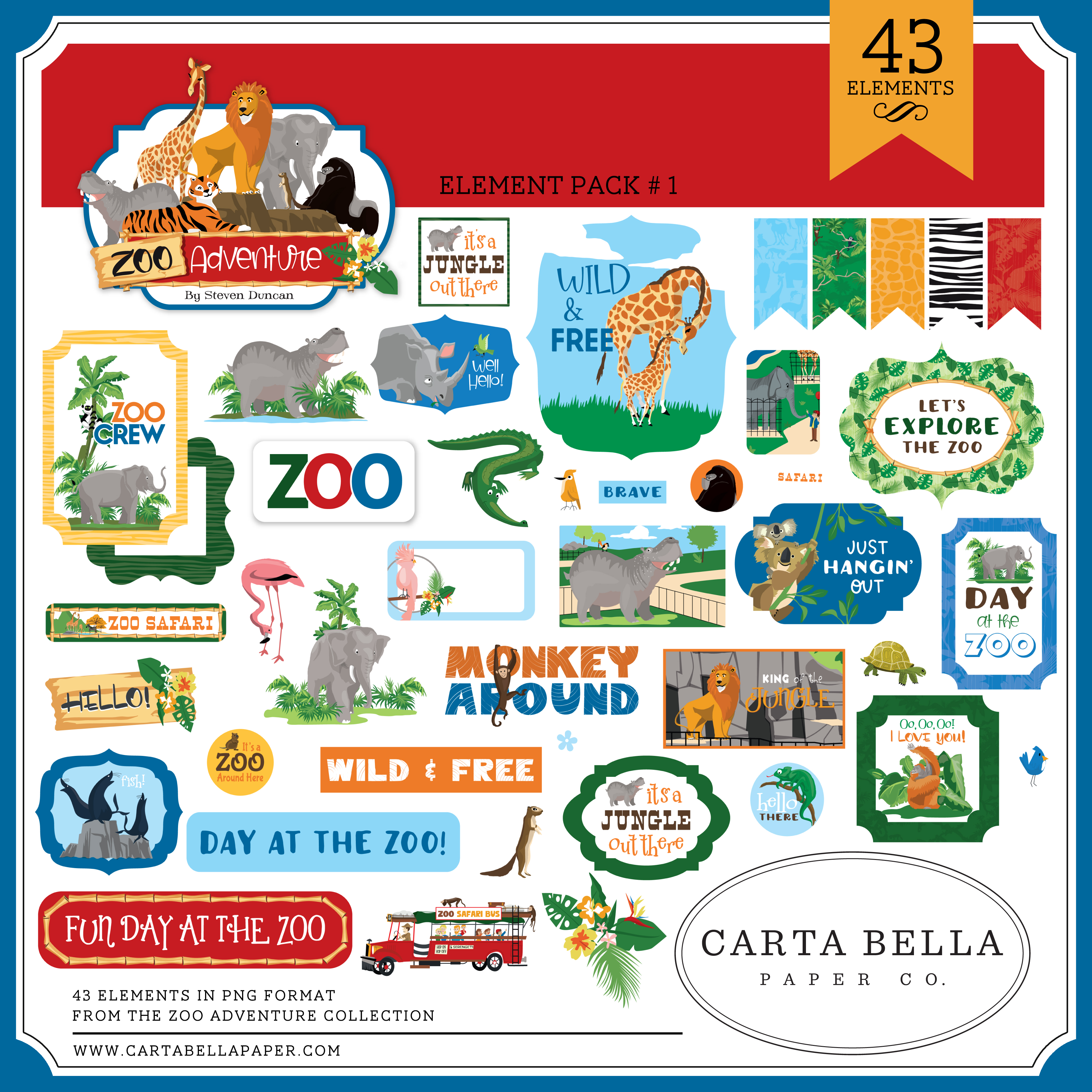 Zoo Adventure Element Pack #1