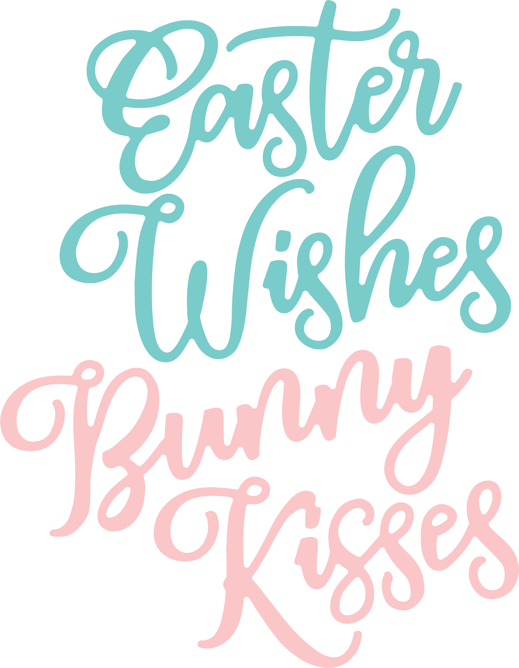 Easter Wishes SVG Cut File