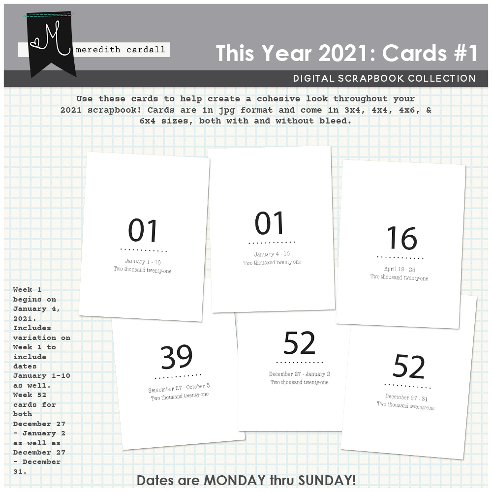 This Year 2021: Cards #1
