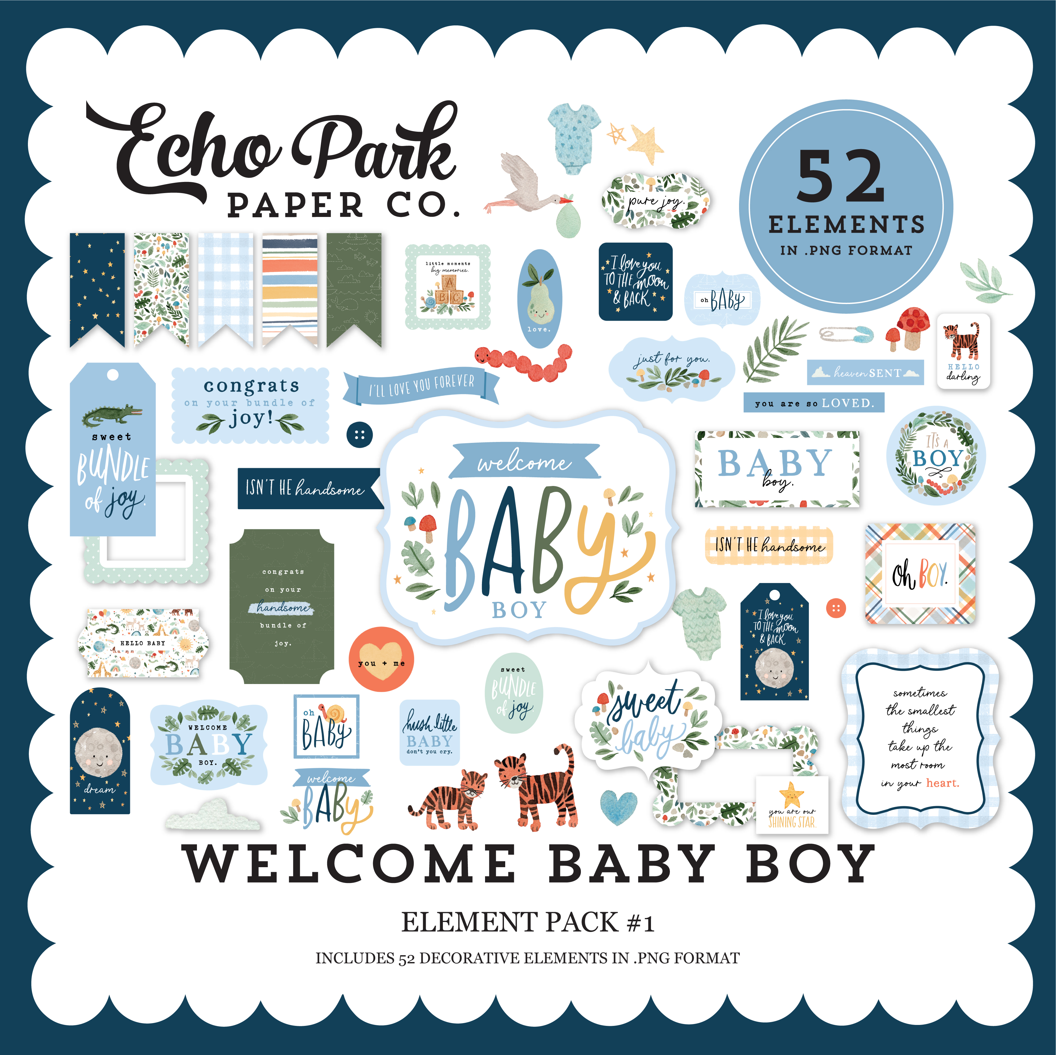 Welcome Baby Boy Mega Collection