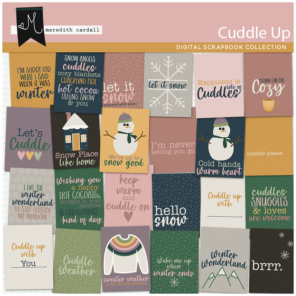 Cuddle Up Journal Cards