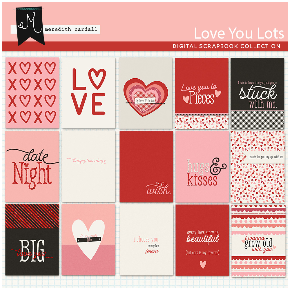 Love You Lots Journal Cards