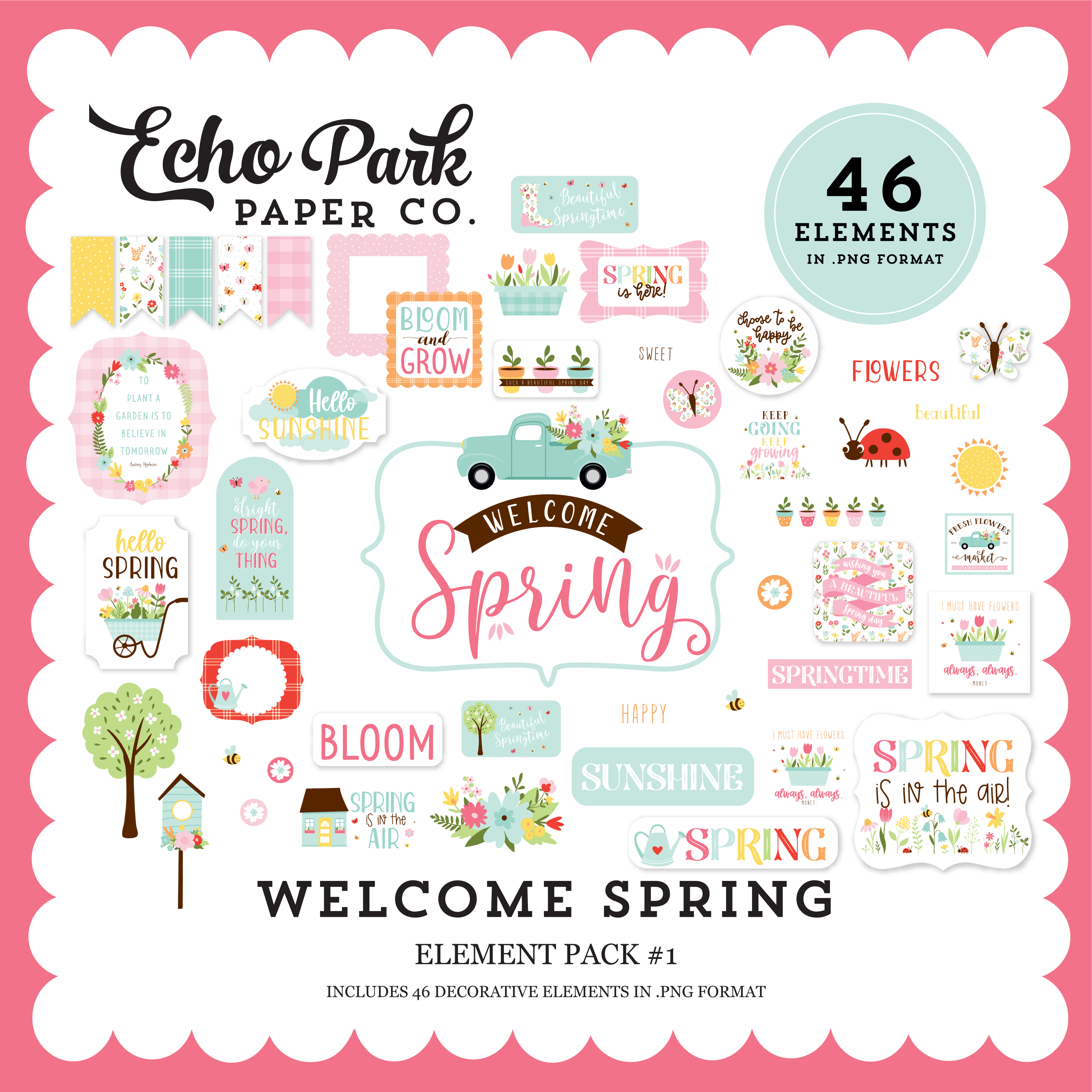 Welcome Spring Element Pack #1