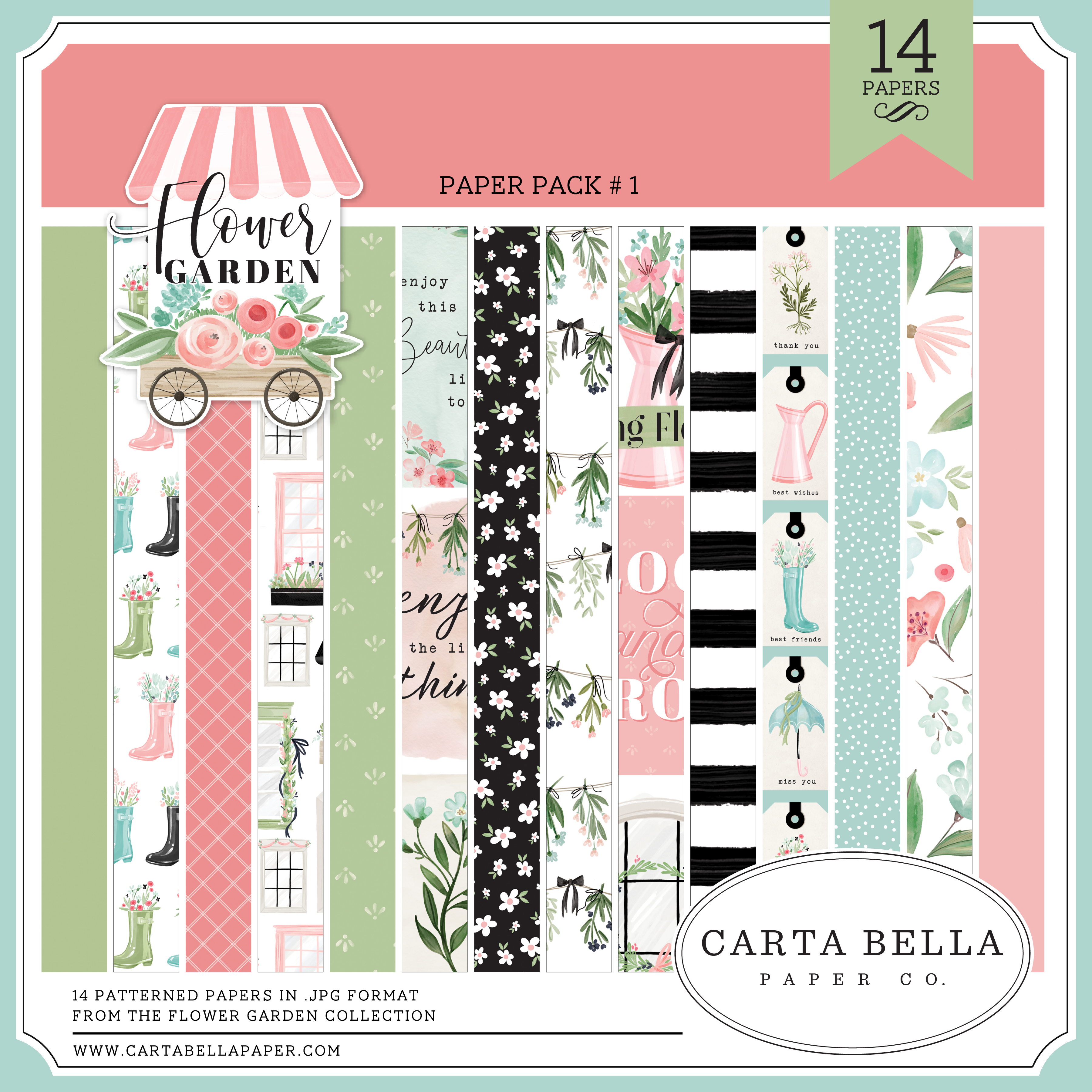 Flower Garden Paper Pack #1