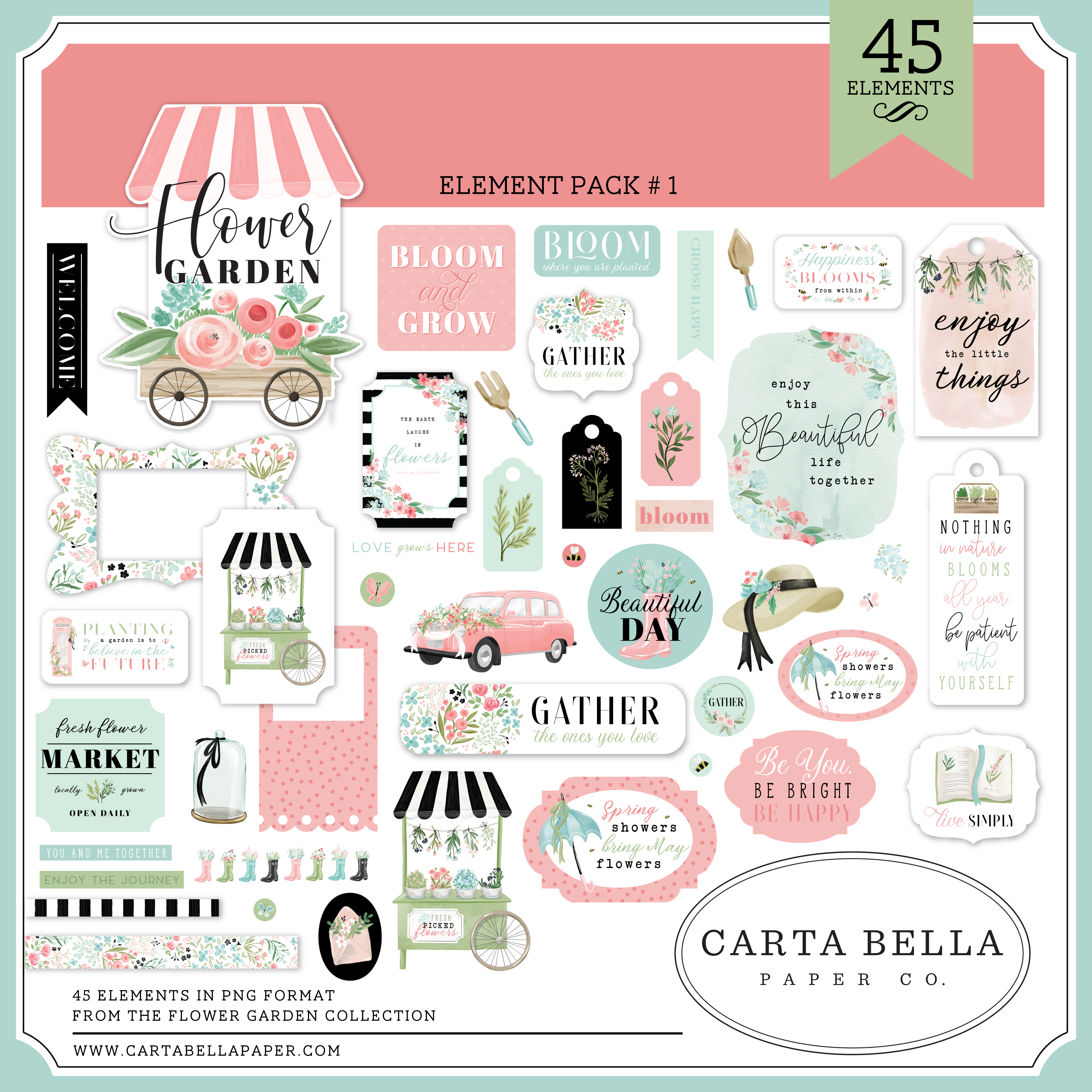 Flower Garden Element Pack #1
