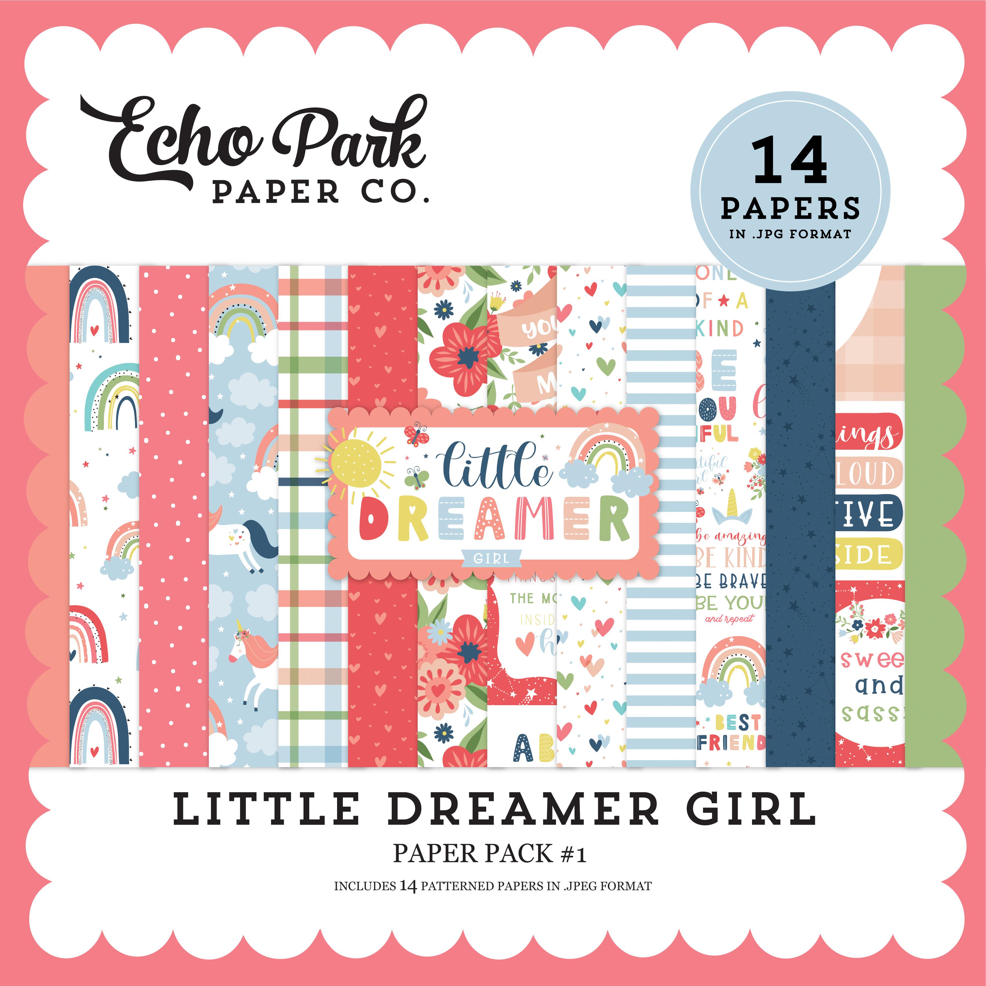 Little Dreamer Girl Paper Pack #1