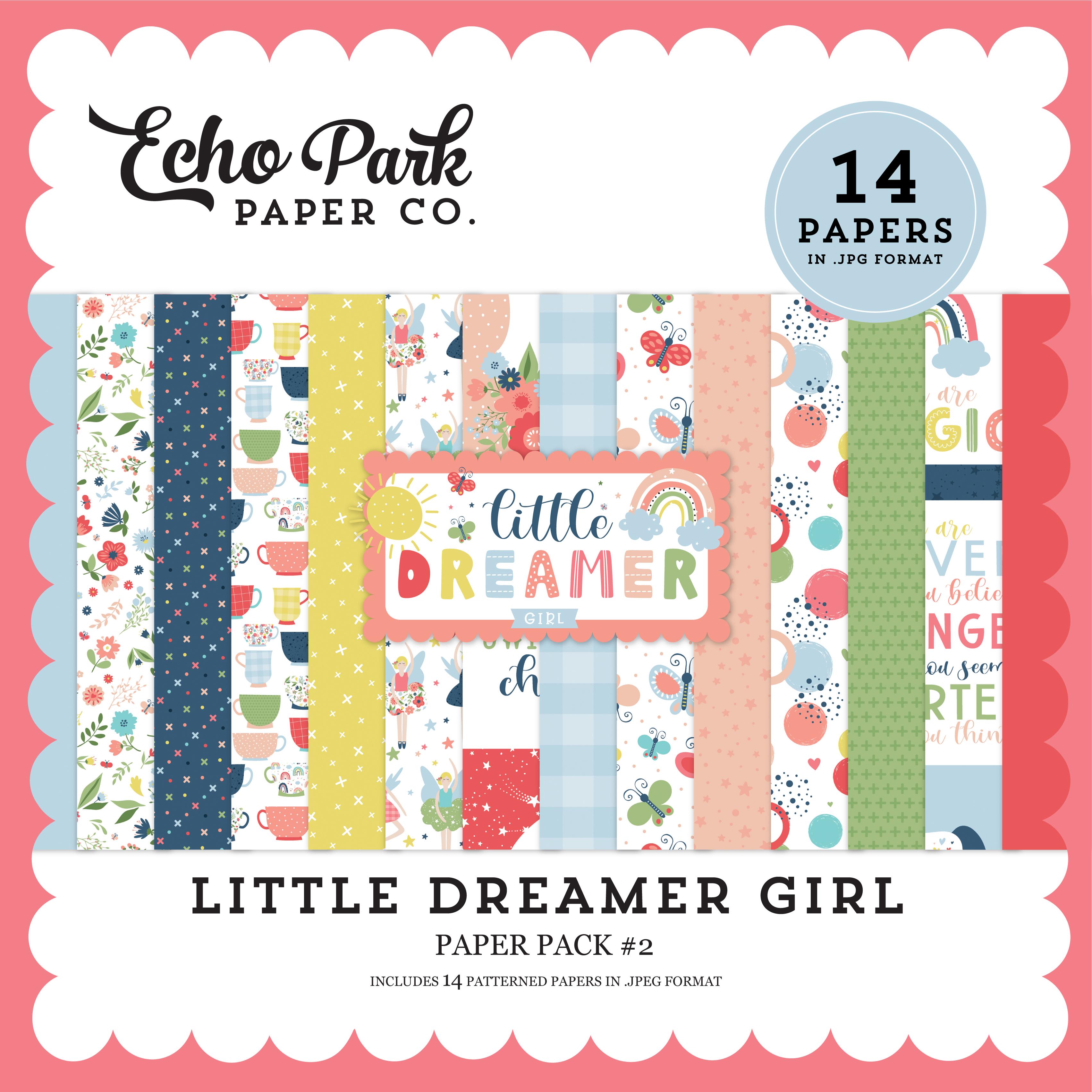 Little Dreamer Girl Paper Pack #2