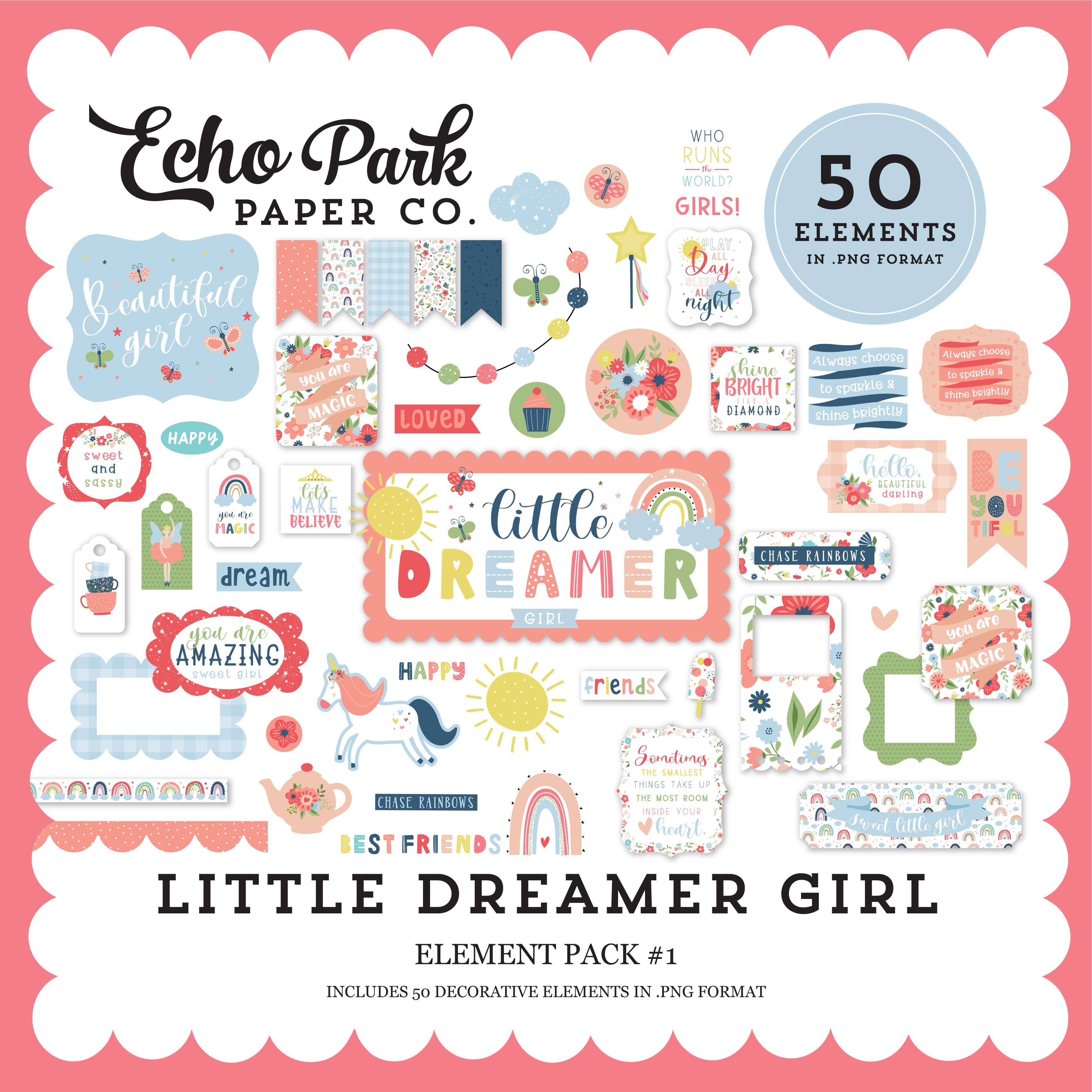Little Dreamer Girl Element Pack #1