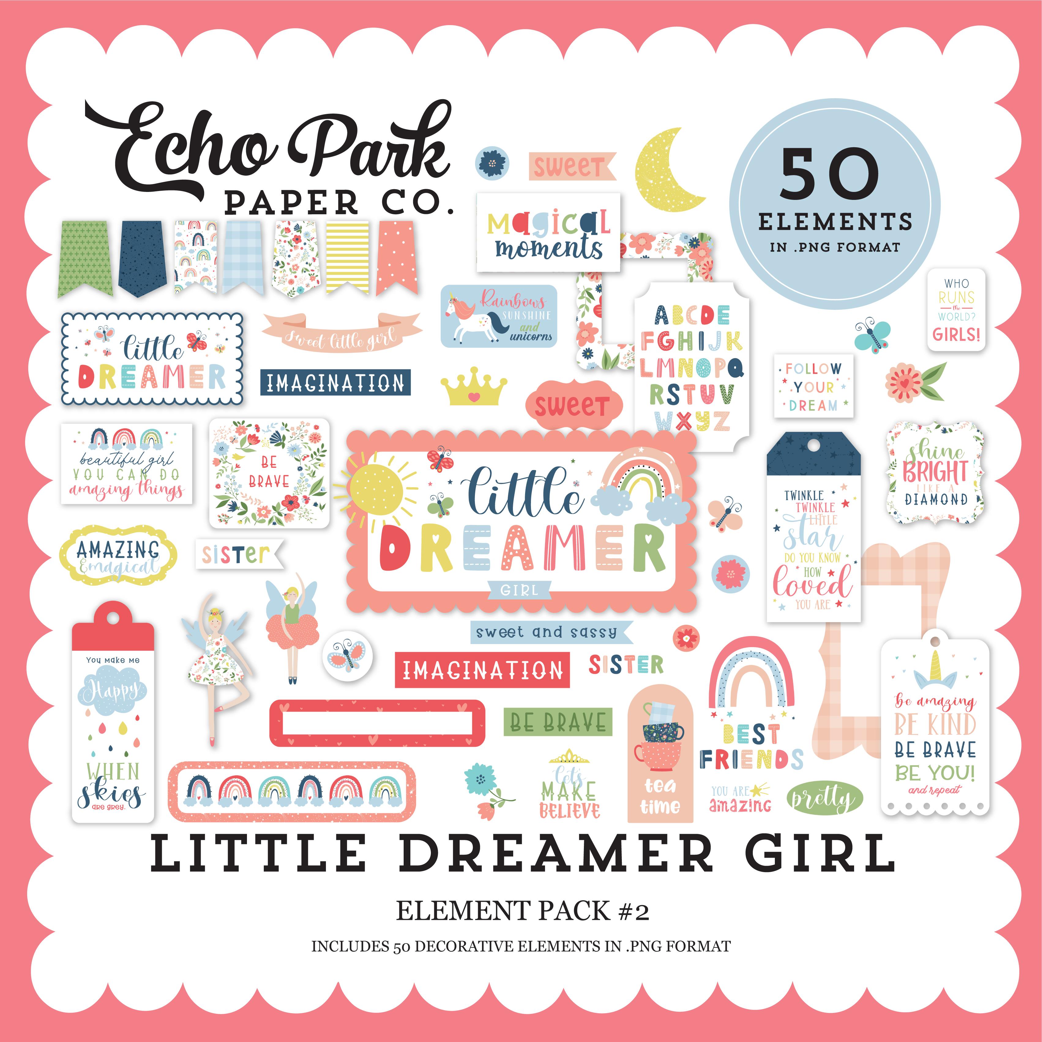 Little Dreamer Girl Element Pack #2