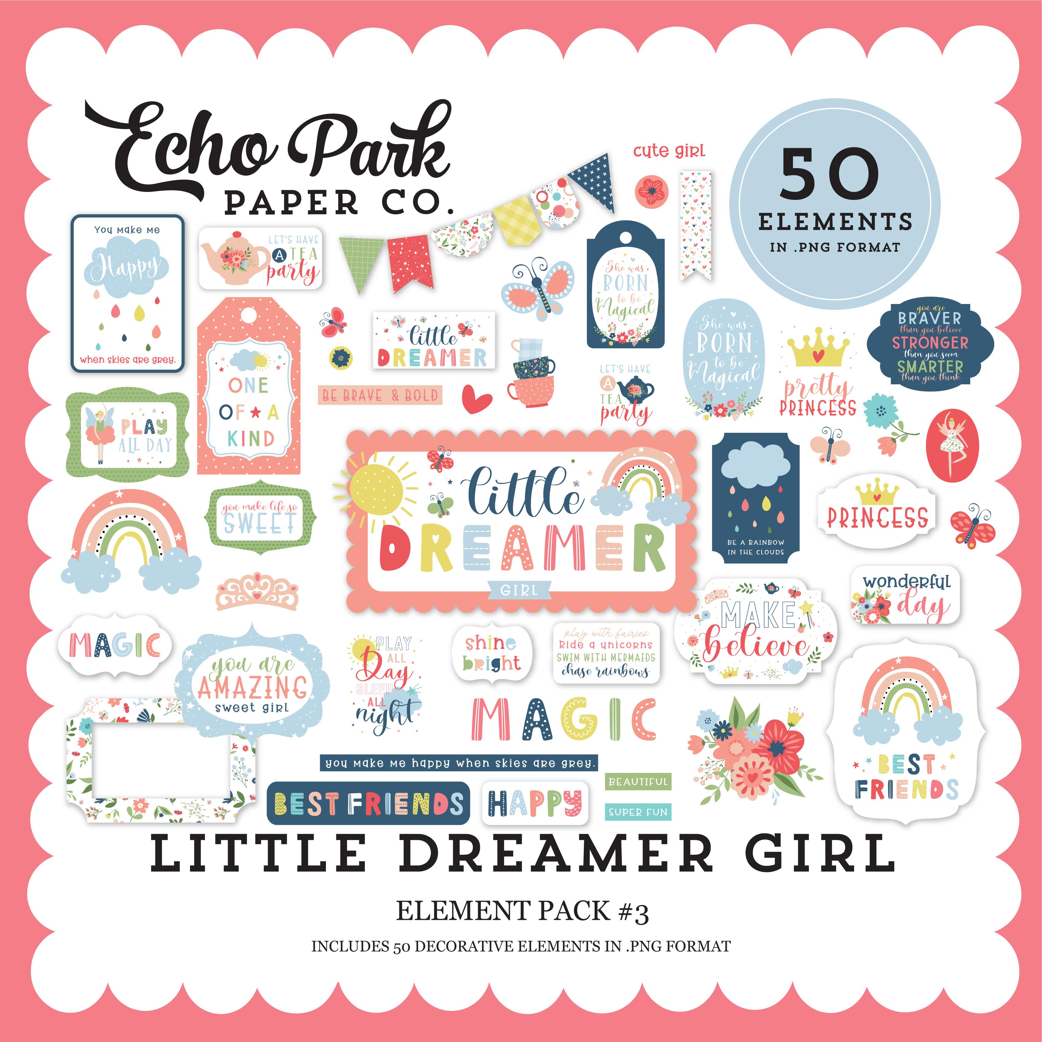 Little Dreamer Girl Element Pack #3