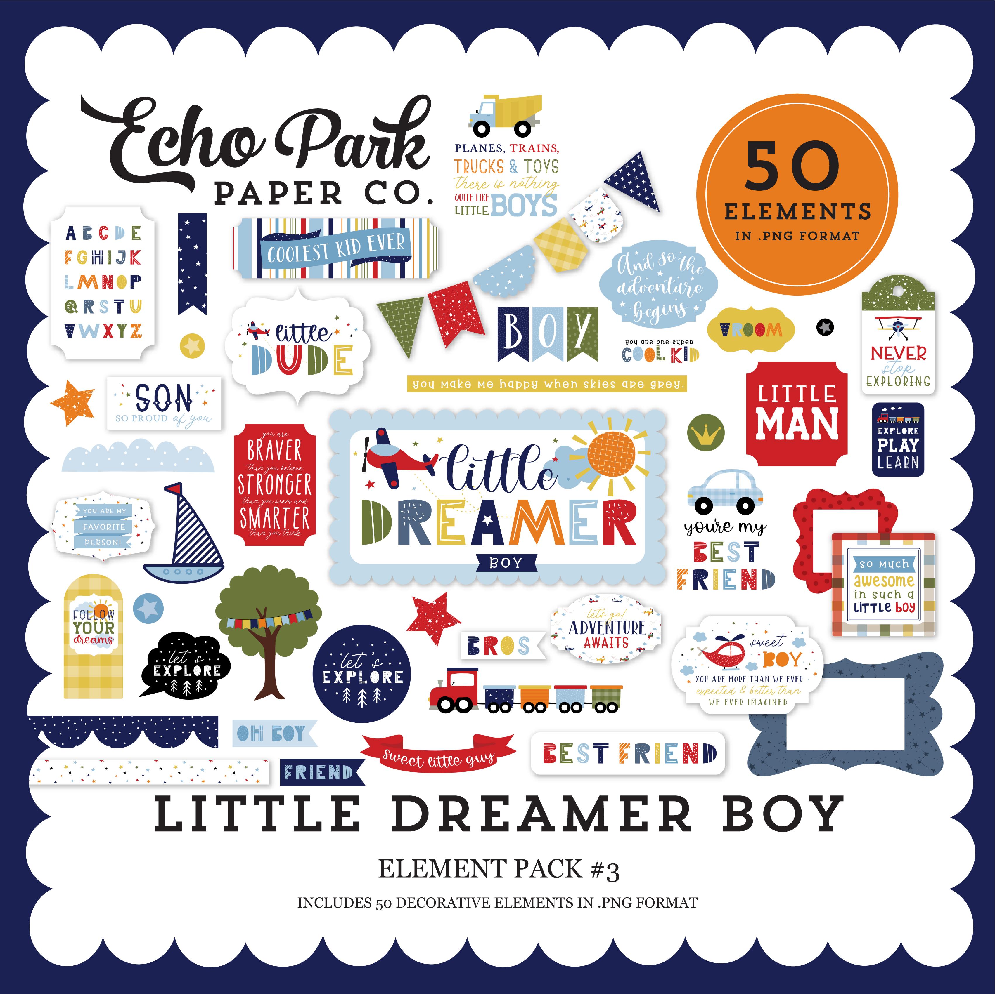 Little Dreamer Boy Element Pack #3