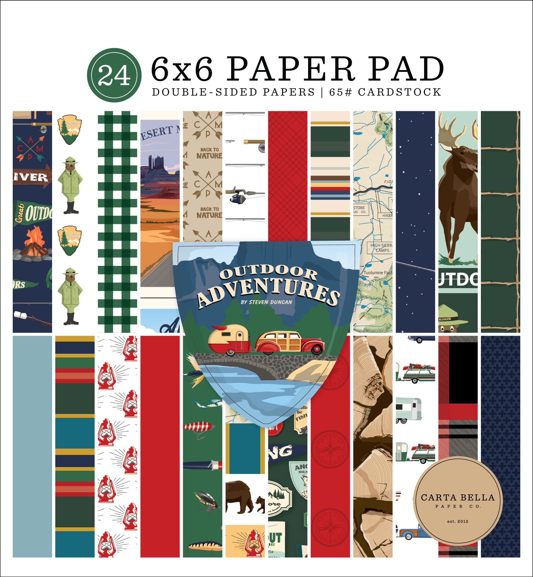 Outdoor Adventures 6x6 Paper Pad