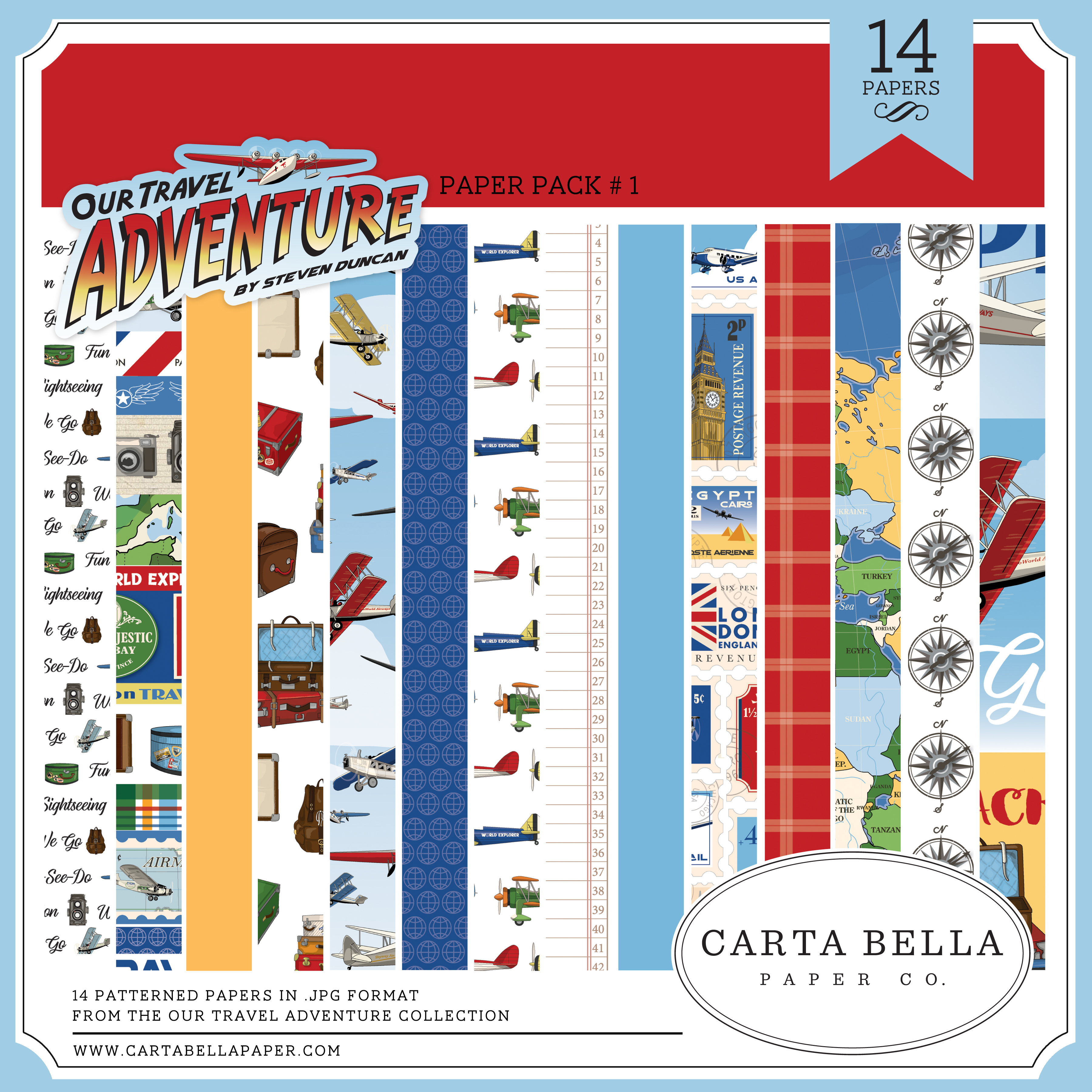 Our Travel Adventure Paper Pack #1