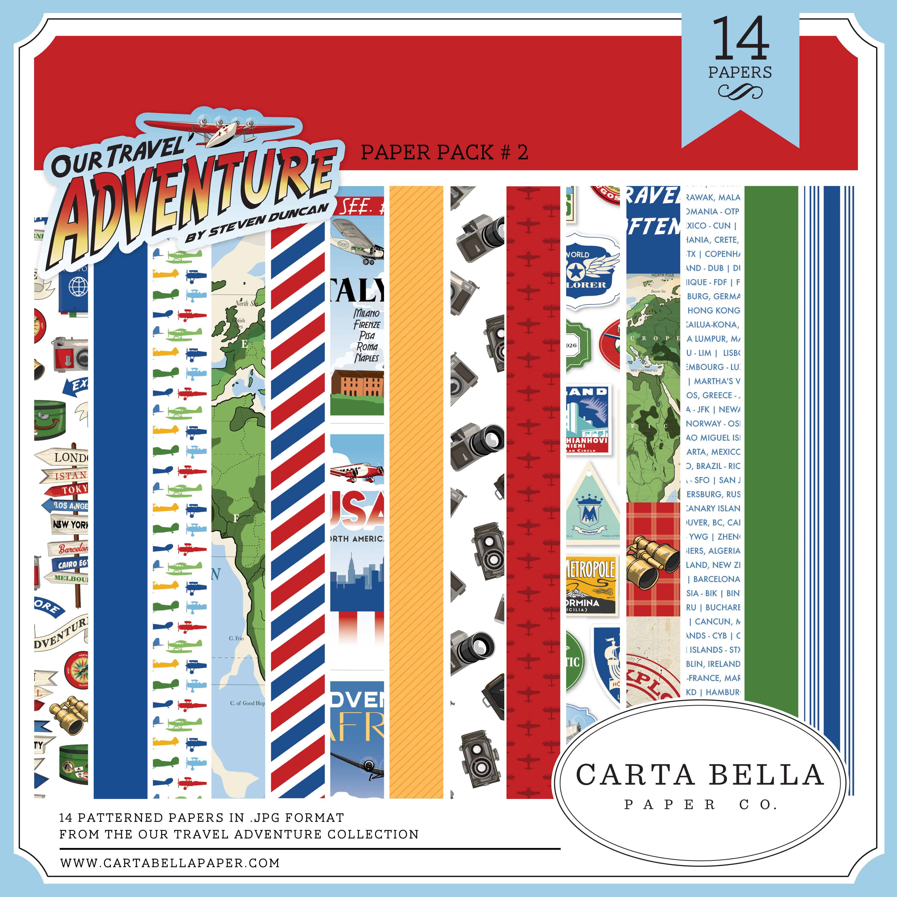 Our Travel Adventure Paper Pack 2