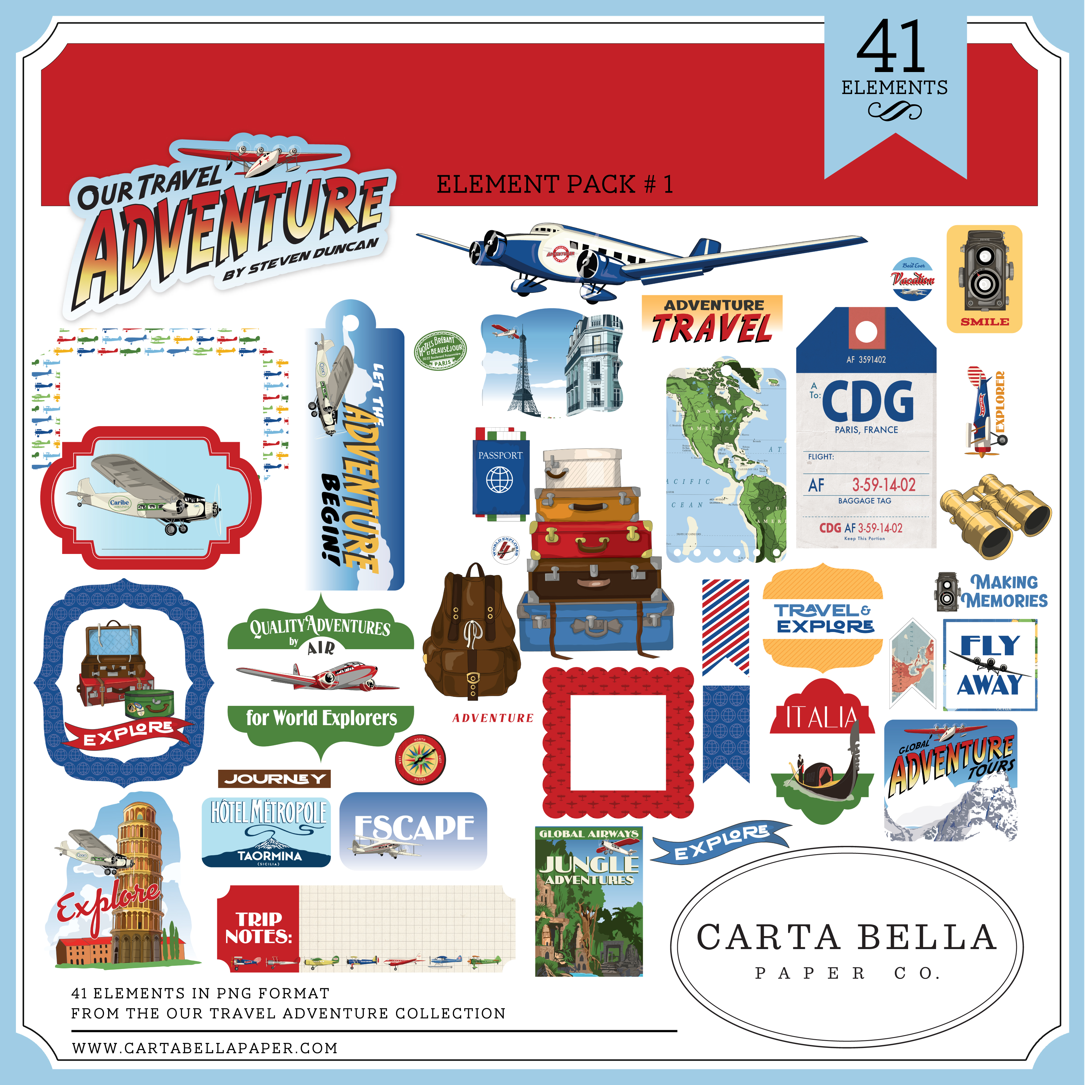 Our Travel Adventure Element Pack #1
