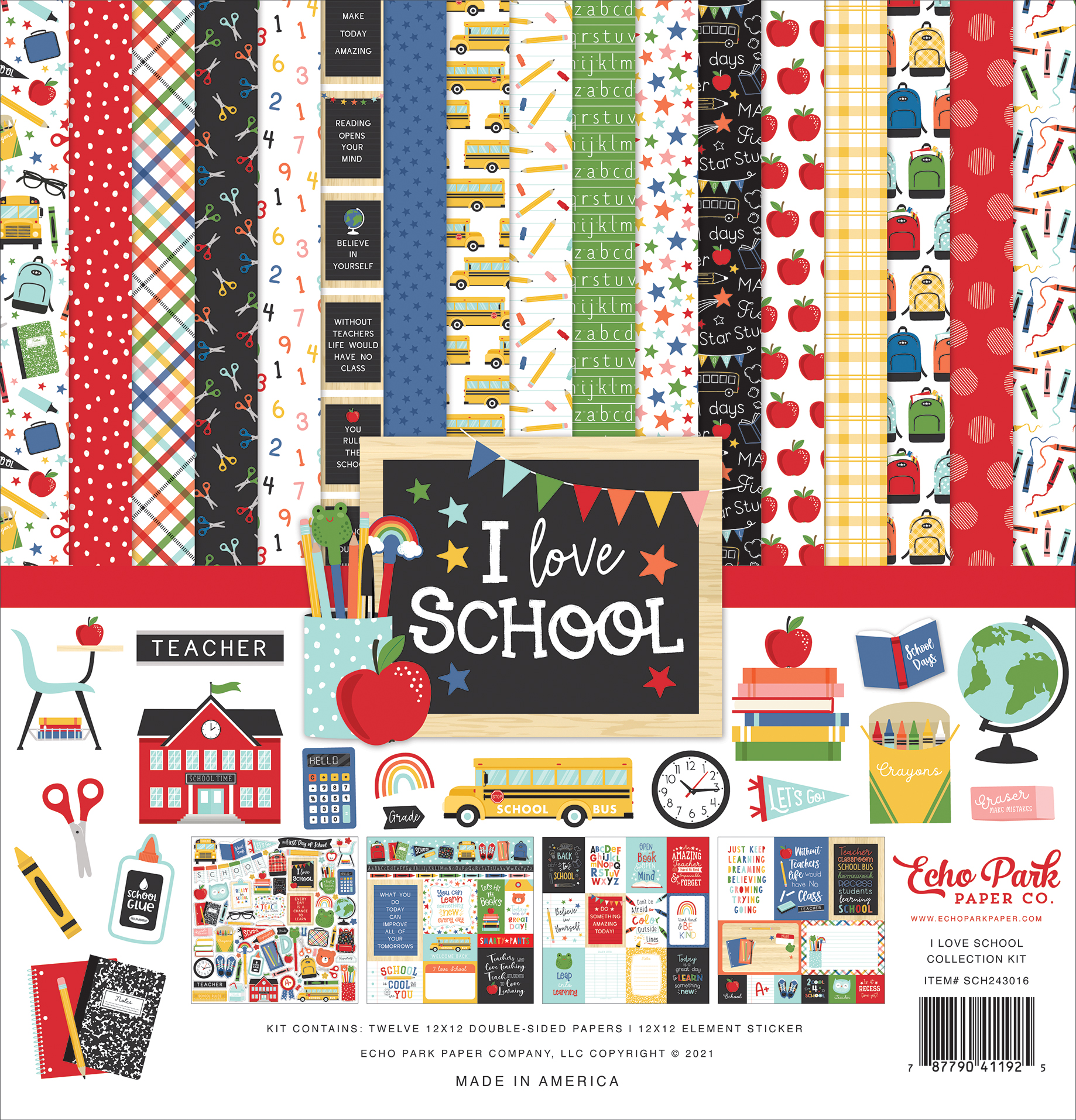 I Love School Collection Kit