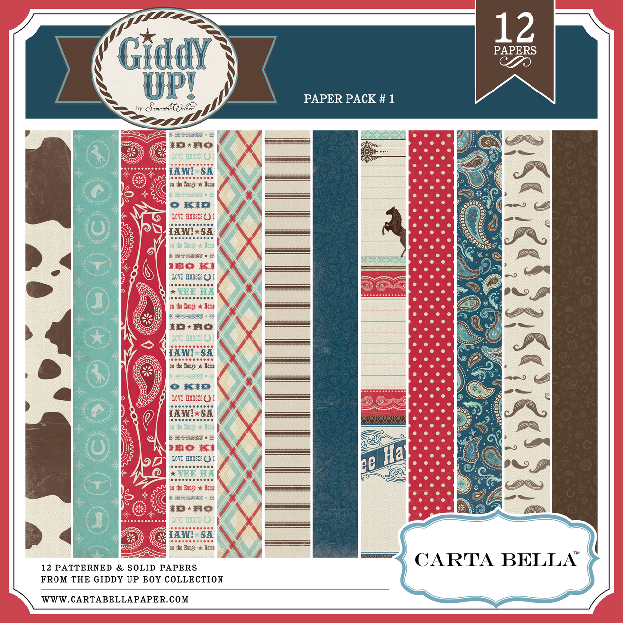GIDDY UP {BOY} Paper Pack