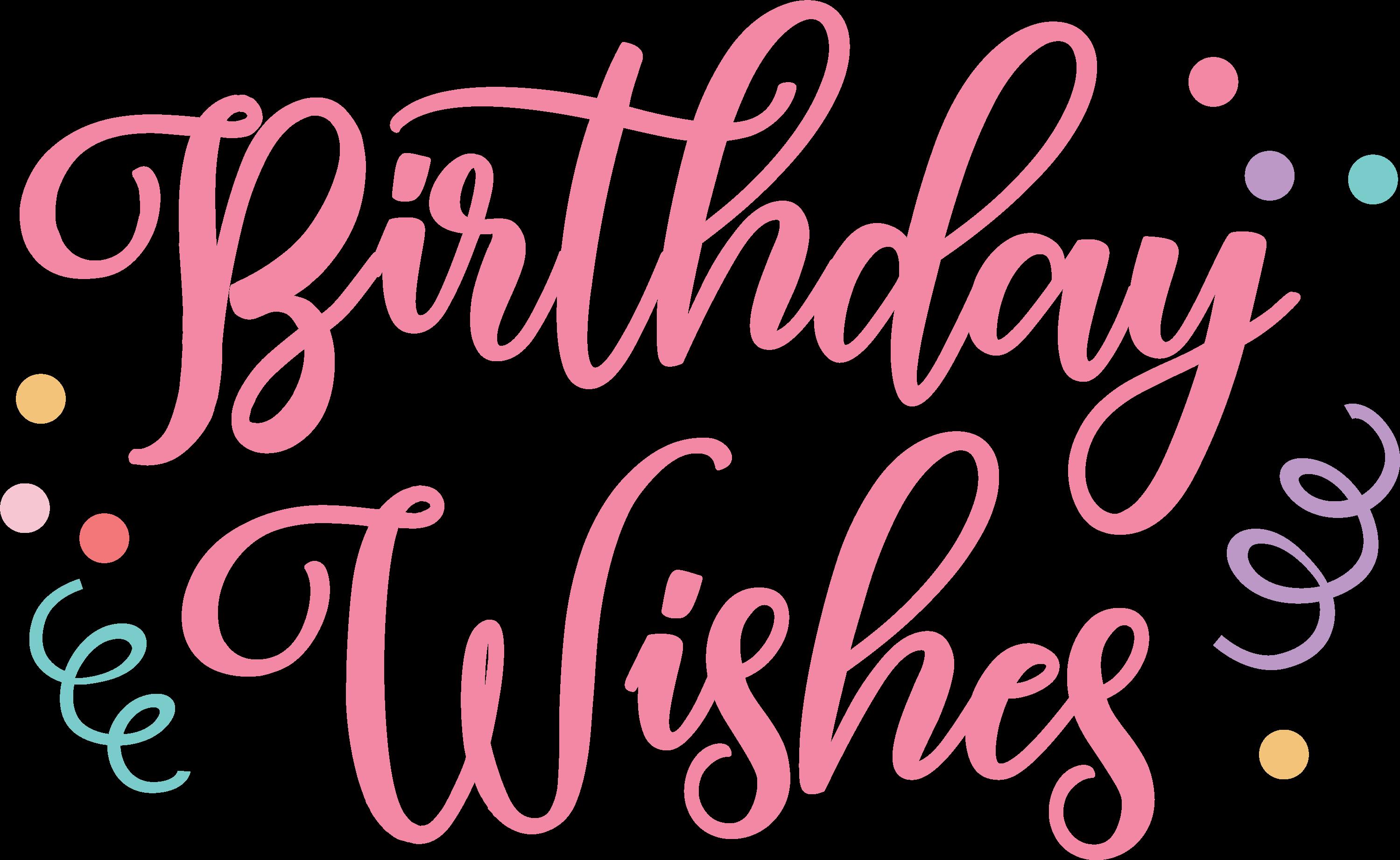 Birthday Wishes SVG Cut File