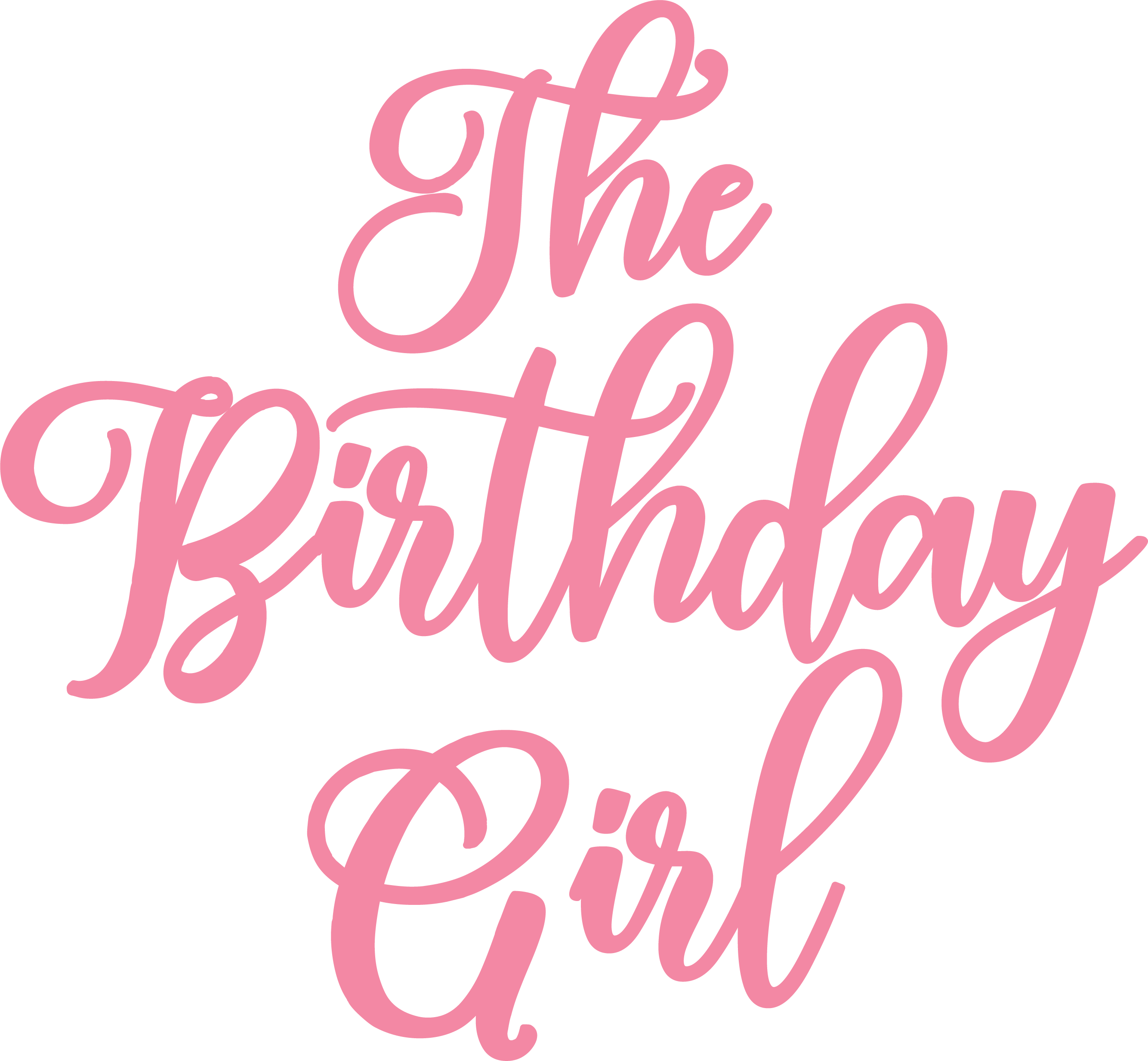 The Birthday Girl SVG Cut File