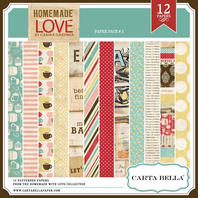 Homemade with Love Paper Pack 2