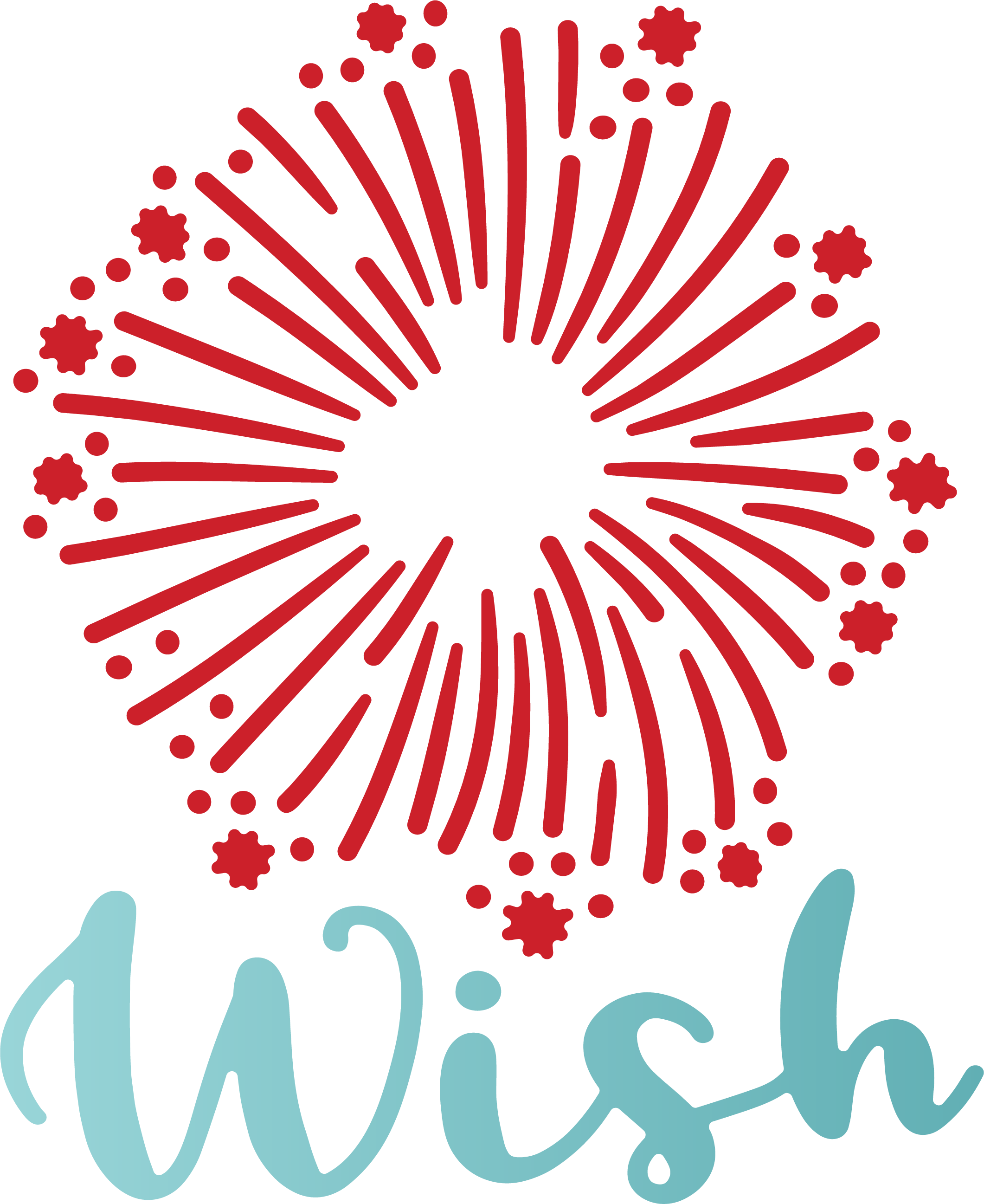 Wish and Firework SVG Cut File