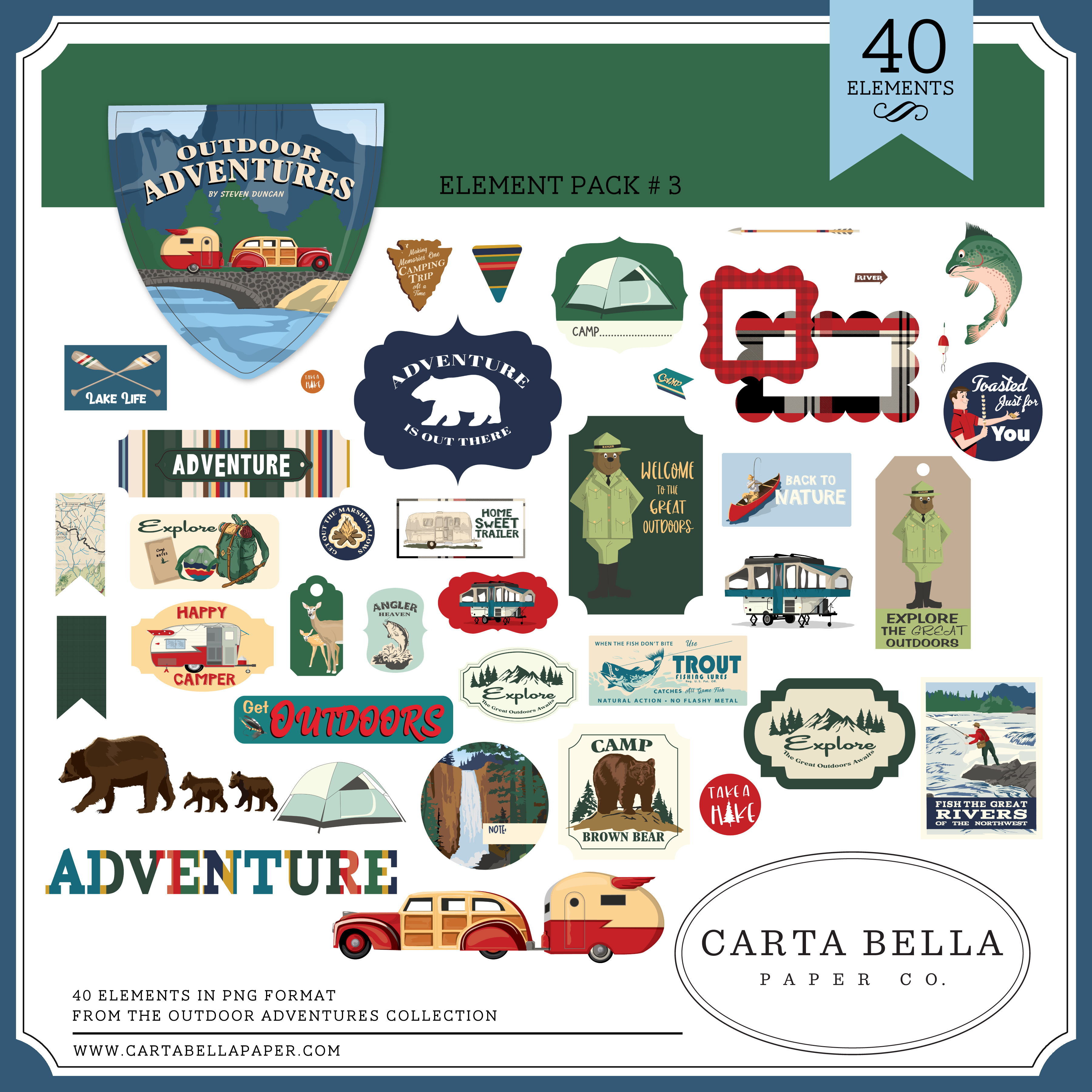 Outdoor Adventures Element Pack #3