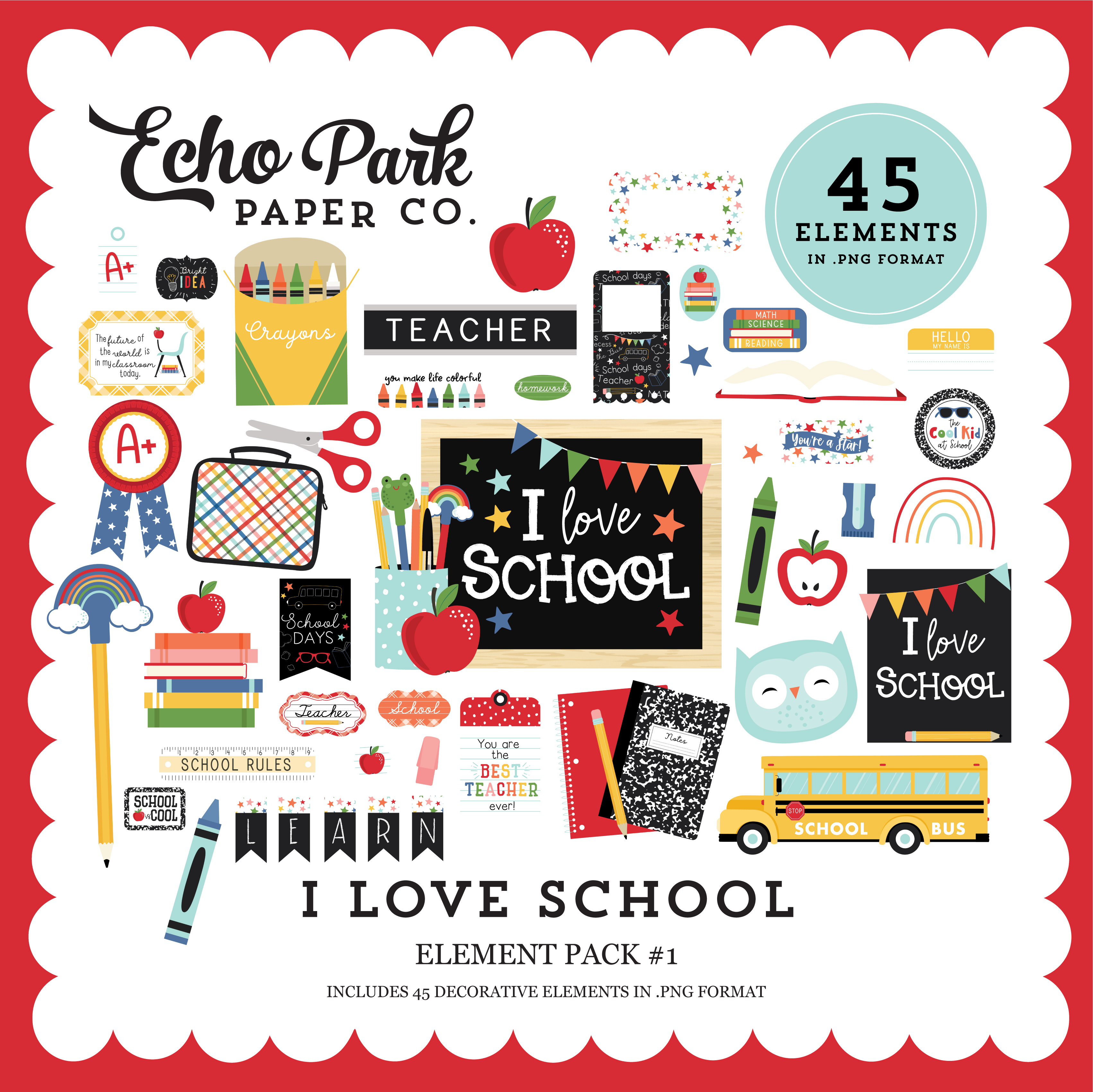 I Love School Element Pack #1