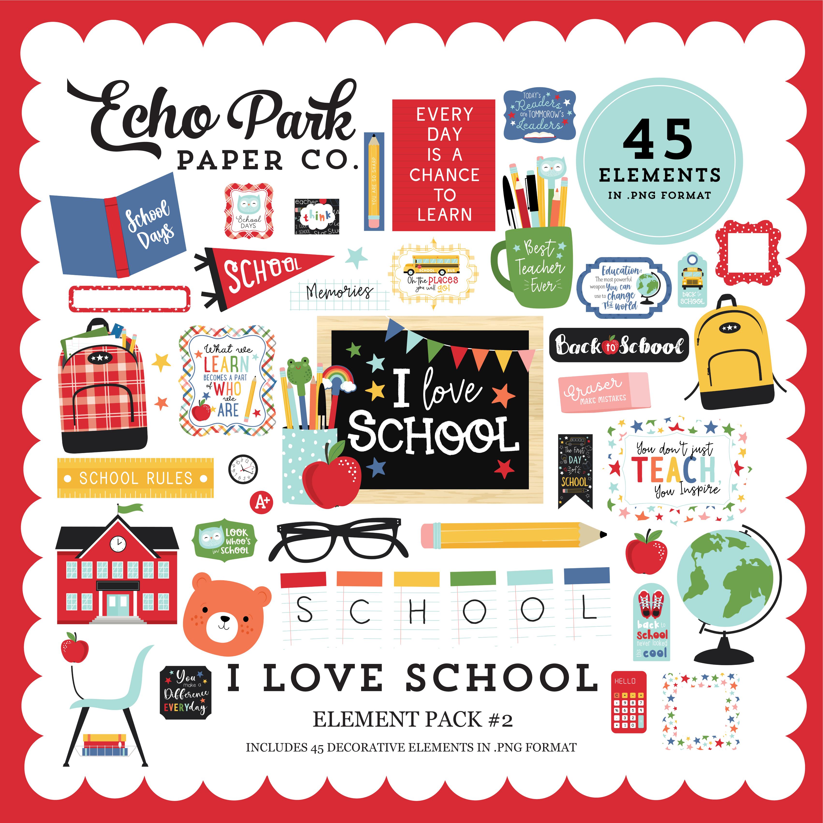 I Love School Element Pack #2