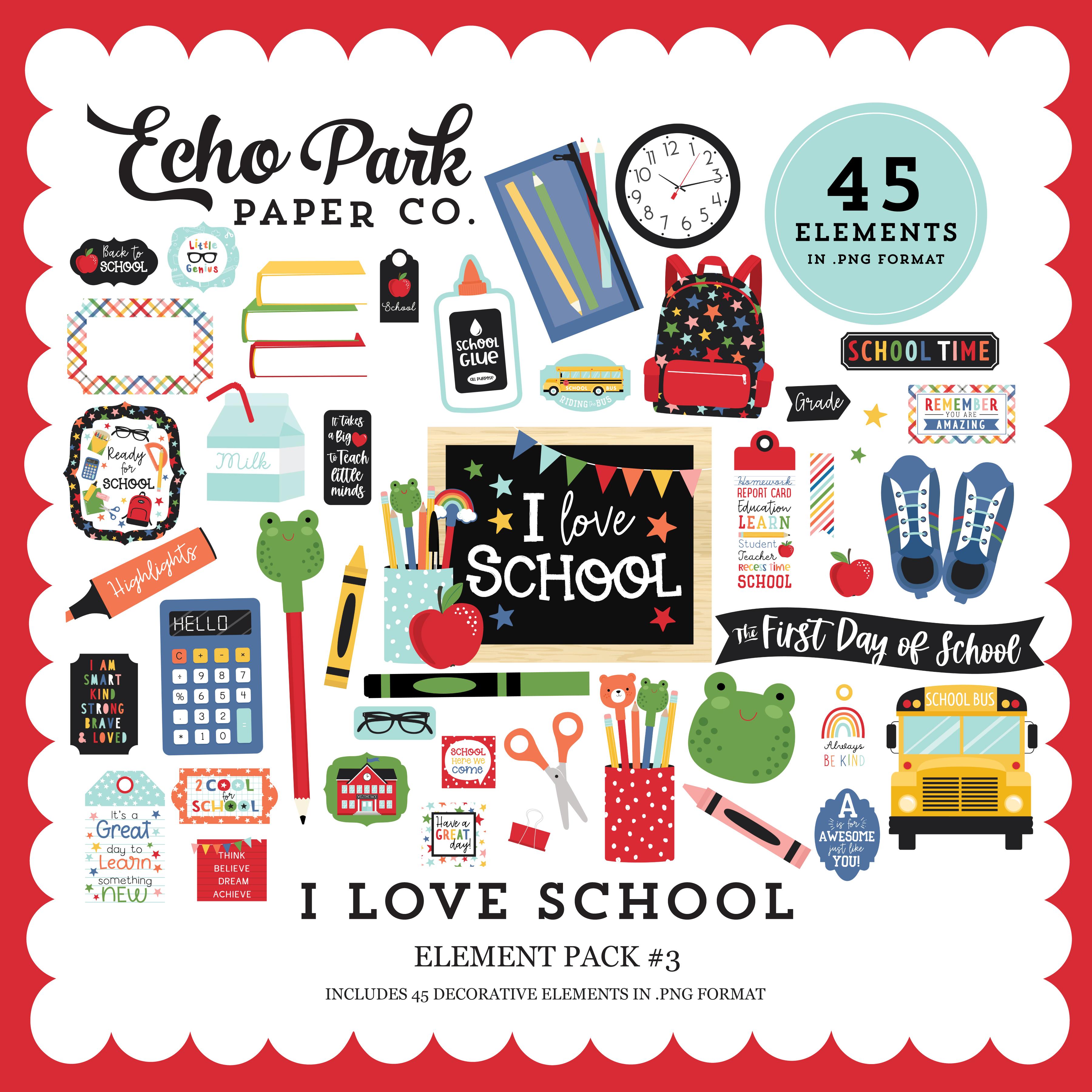 I Love School Element Pack #3