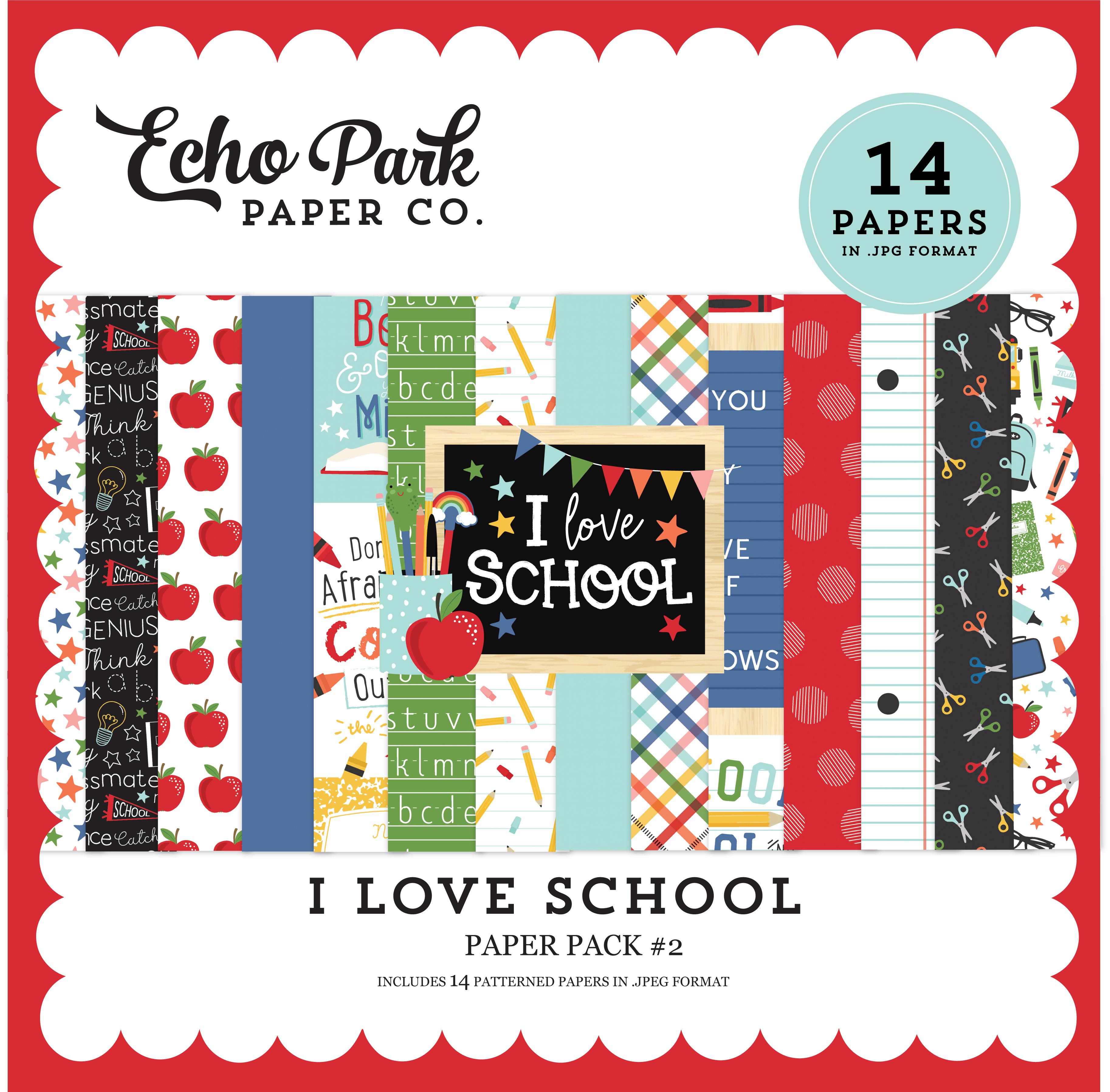 I Love School Paper Pack #2