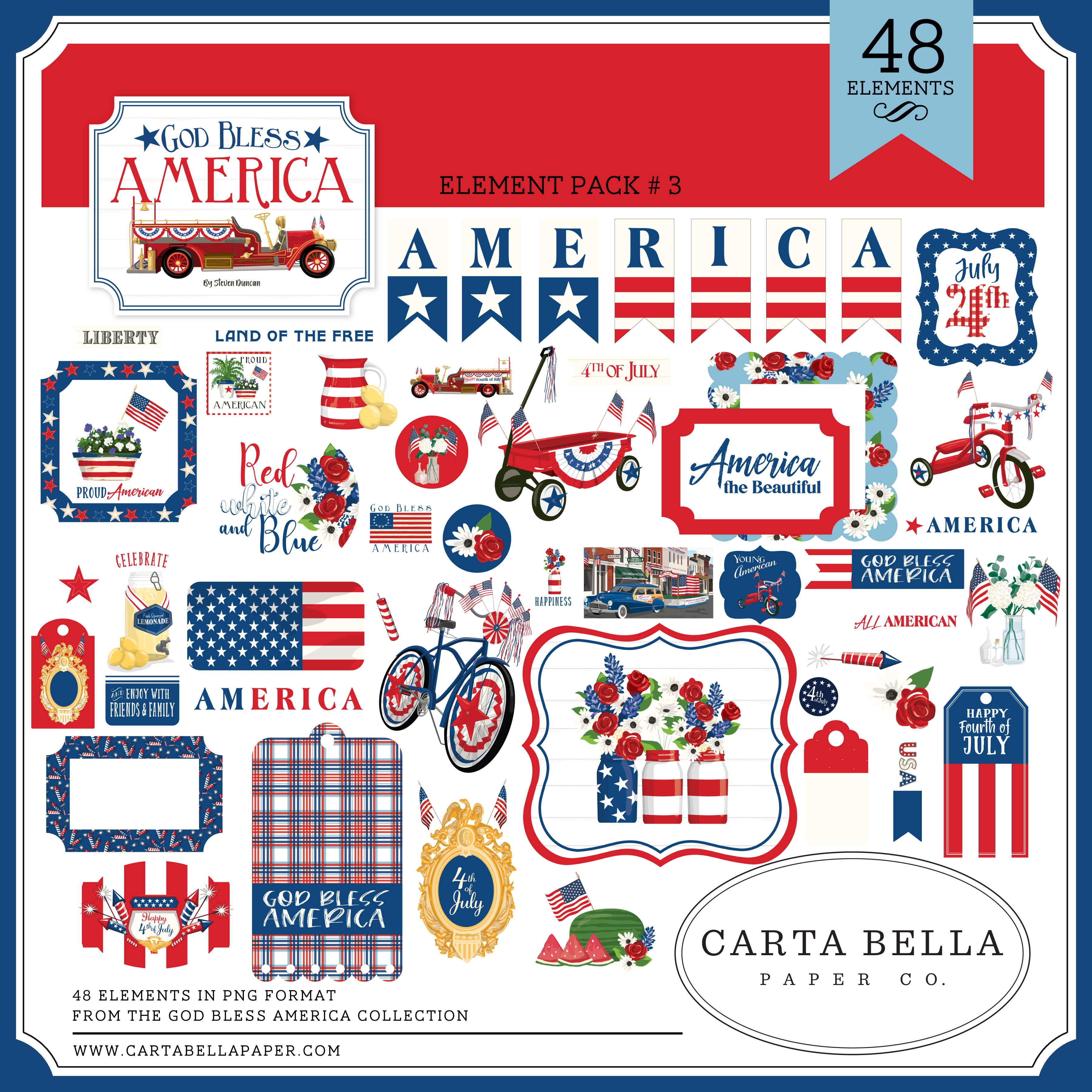 God Bless America Element Pack #3