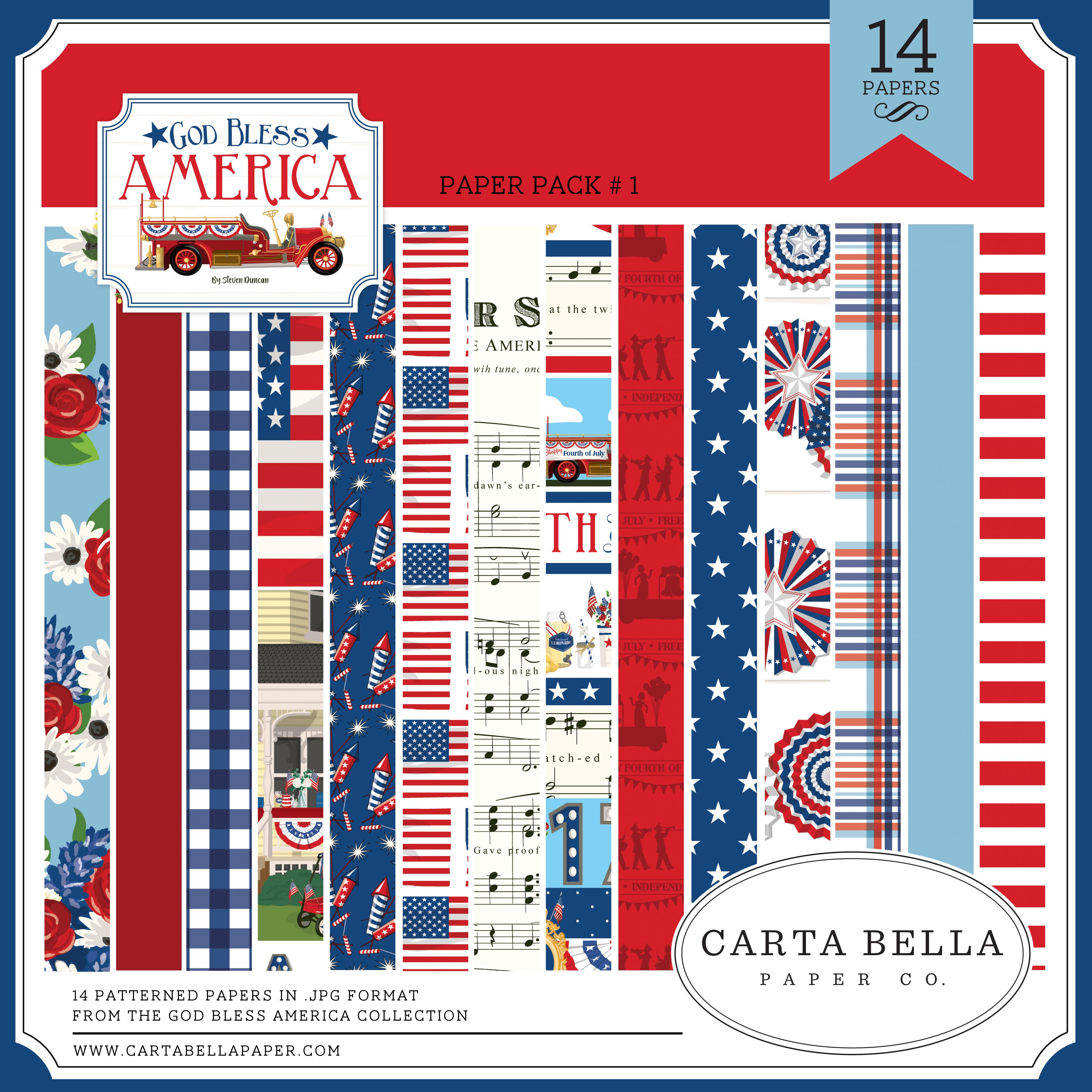 God Bless America Paper Pack #1