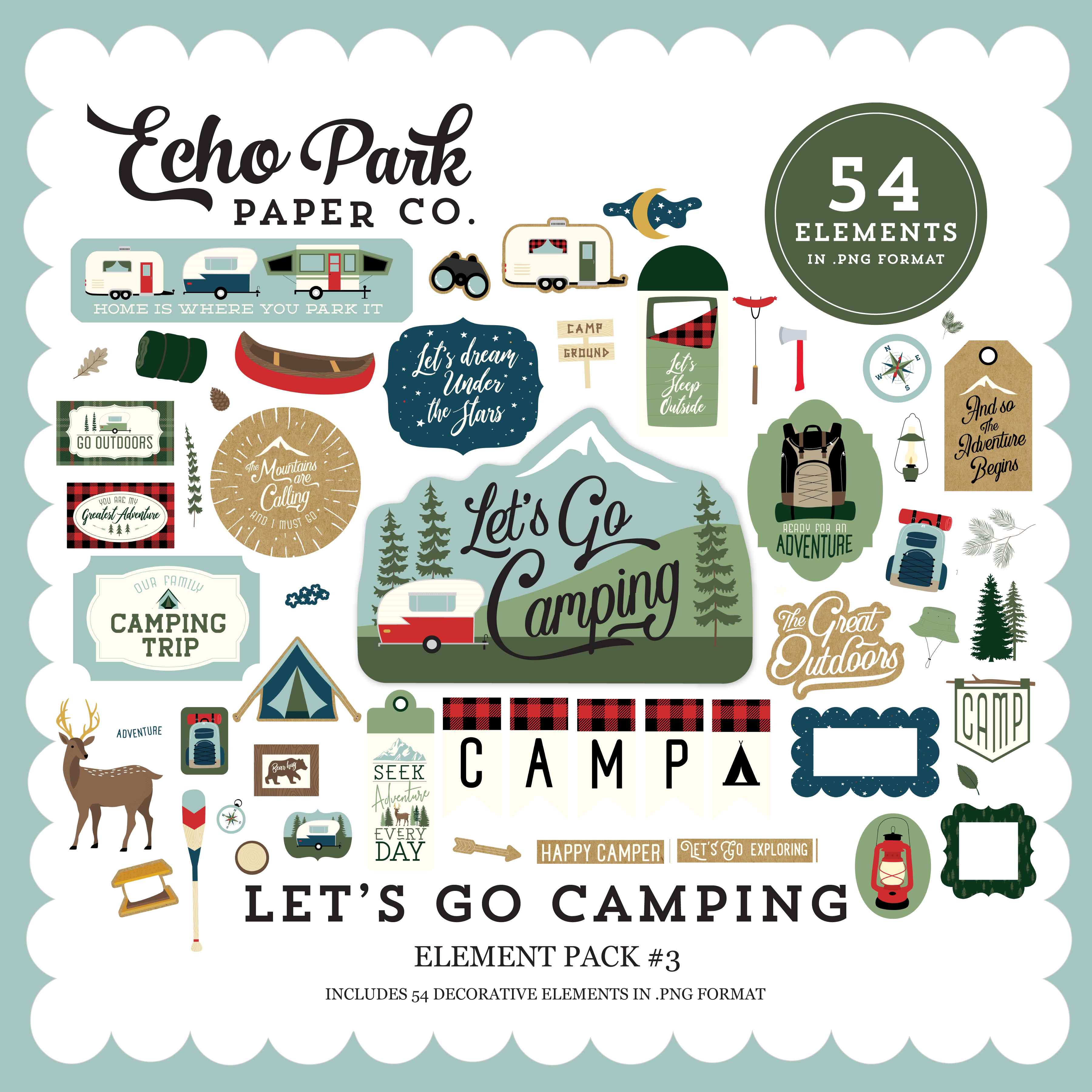 Let's Go Camping Element Pack #3