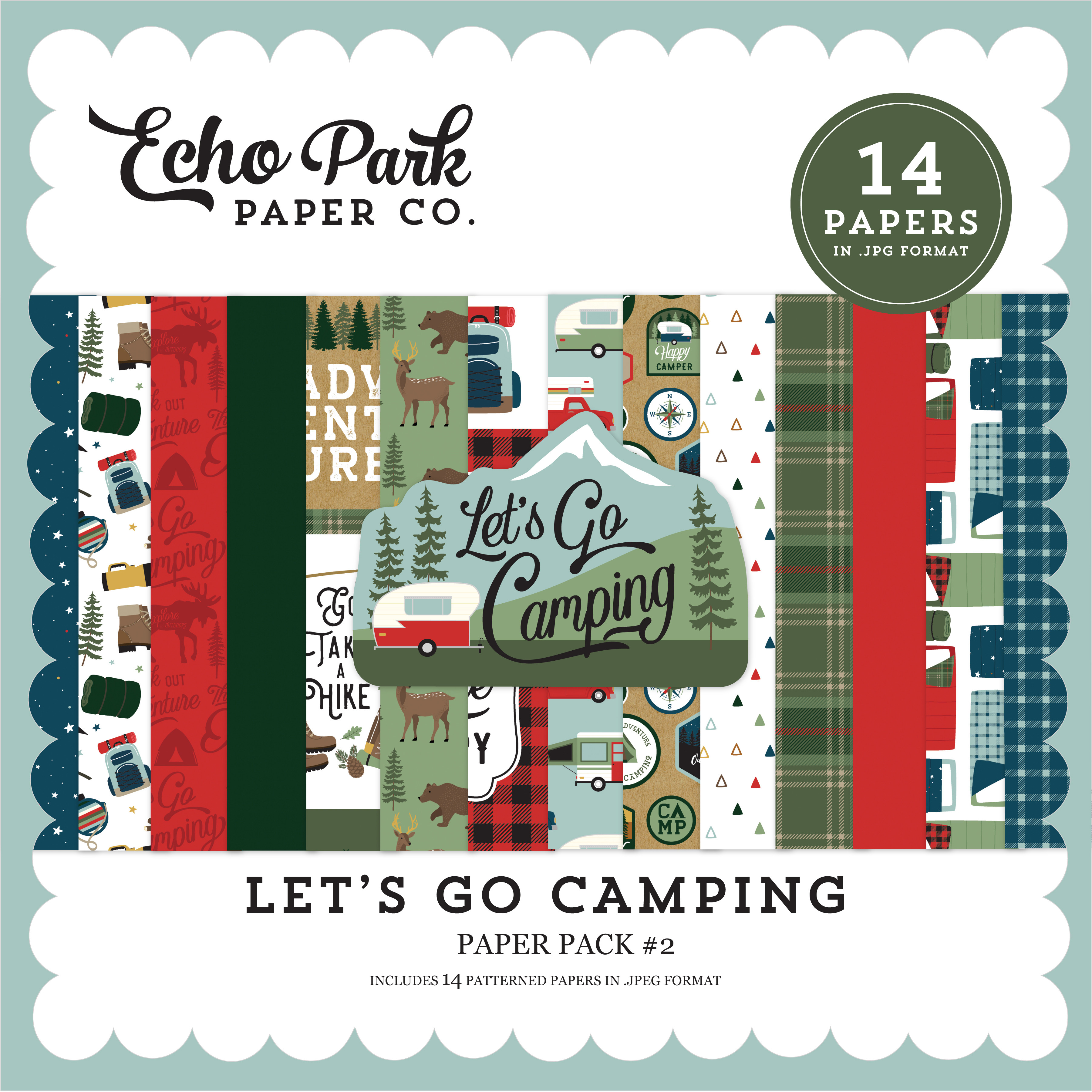 Let's Go Camping Paper Pack #2