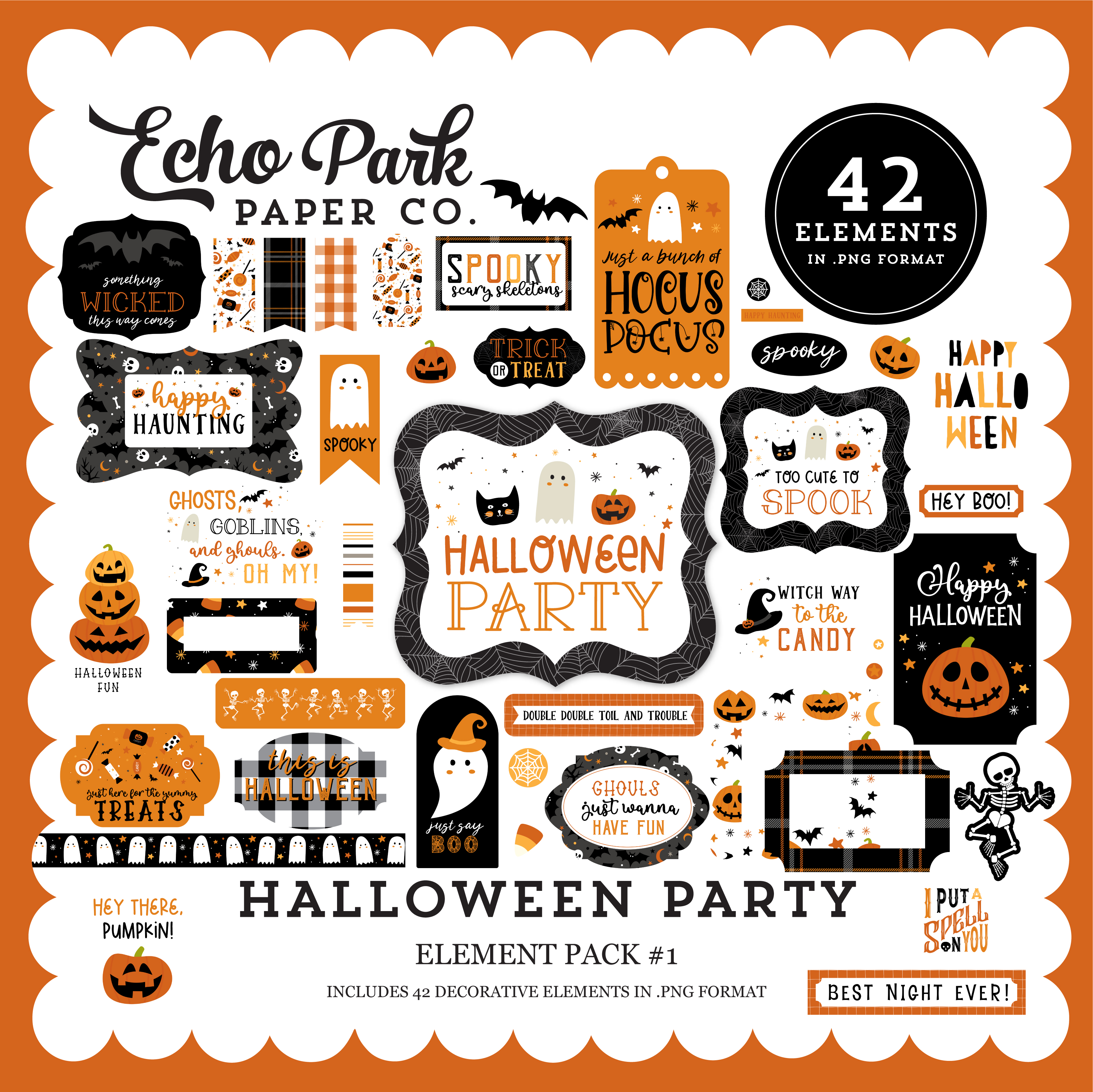 Halloween Party Element Pack #1