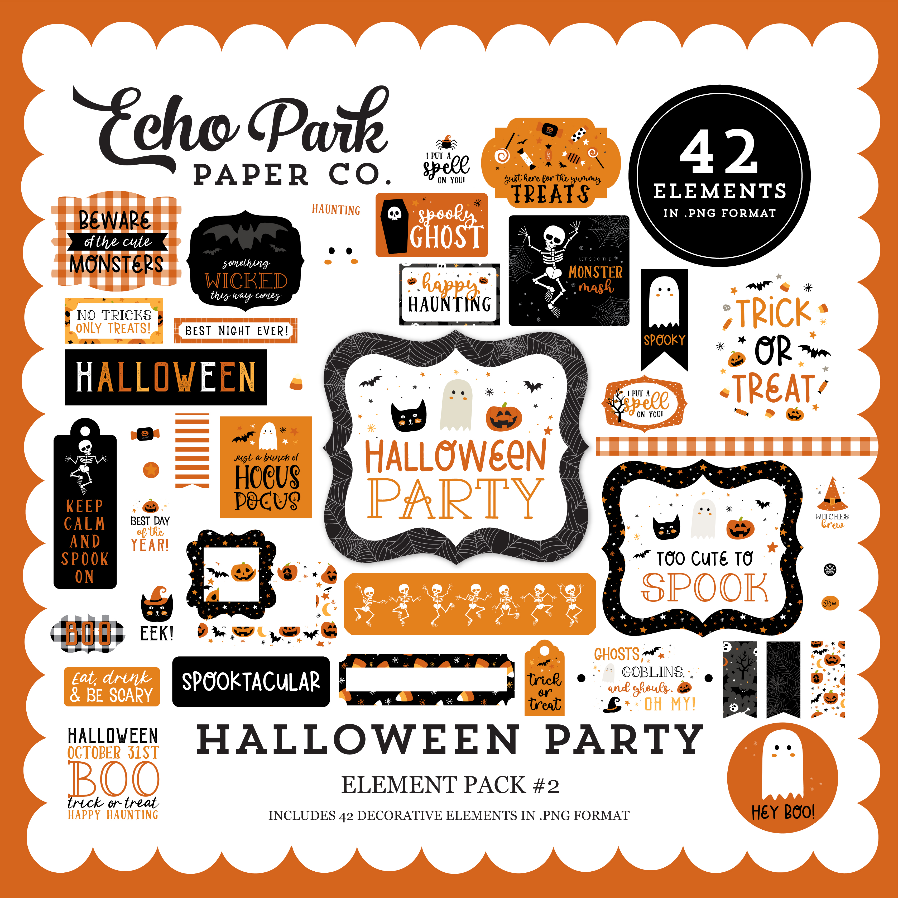 Halloween Party Element Pack #2