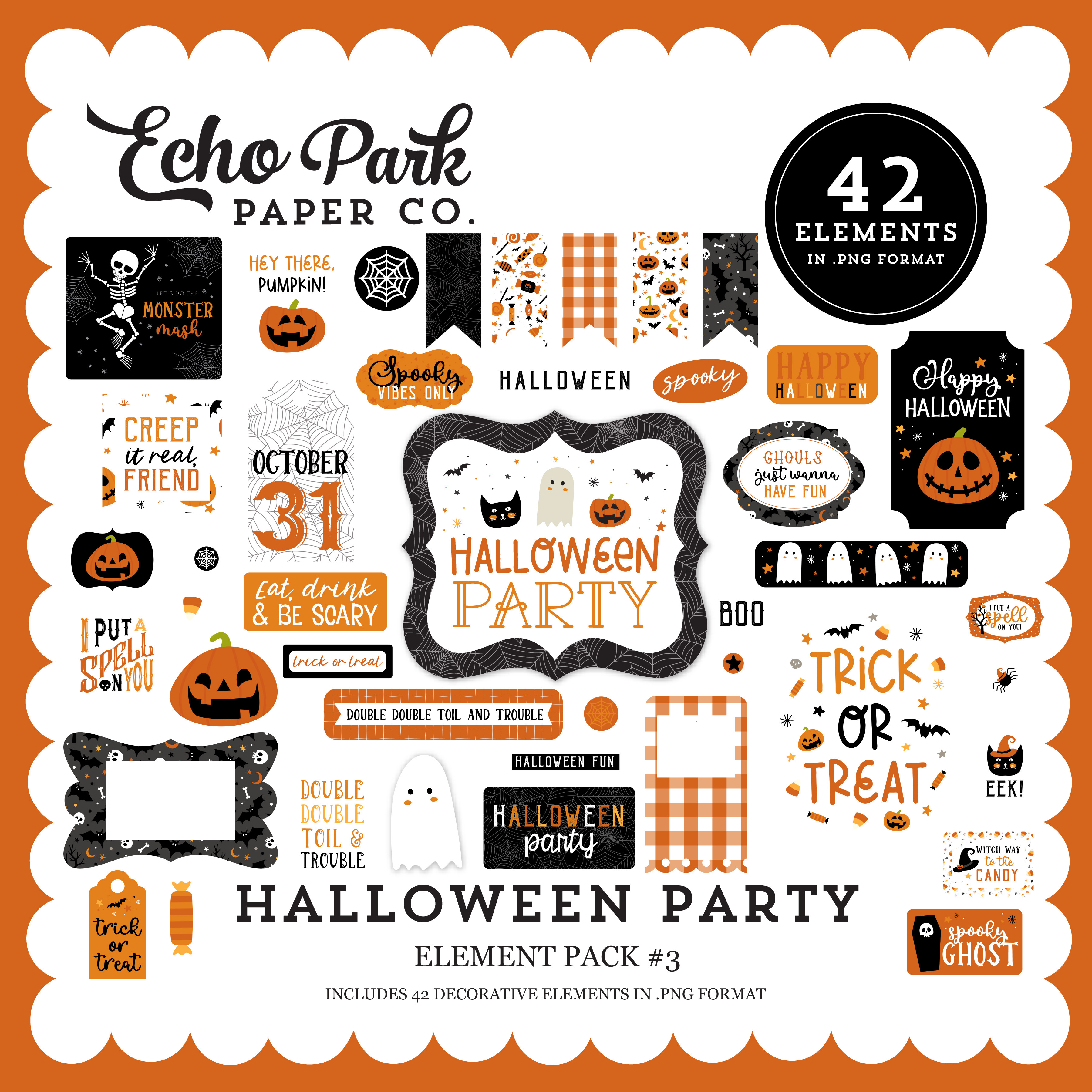Halloween Party Element Pack #3