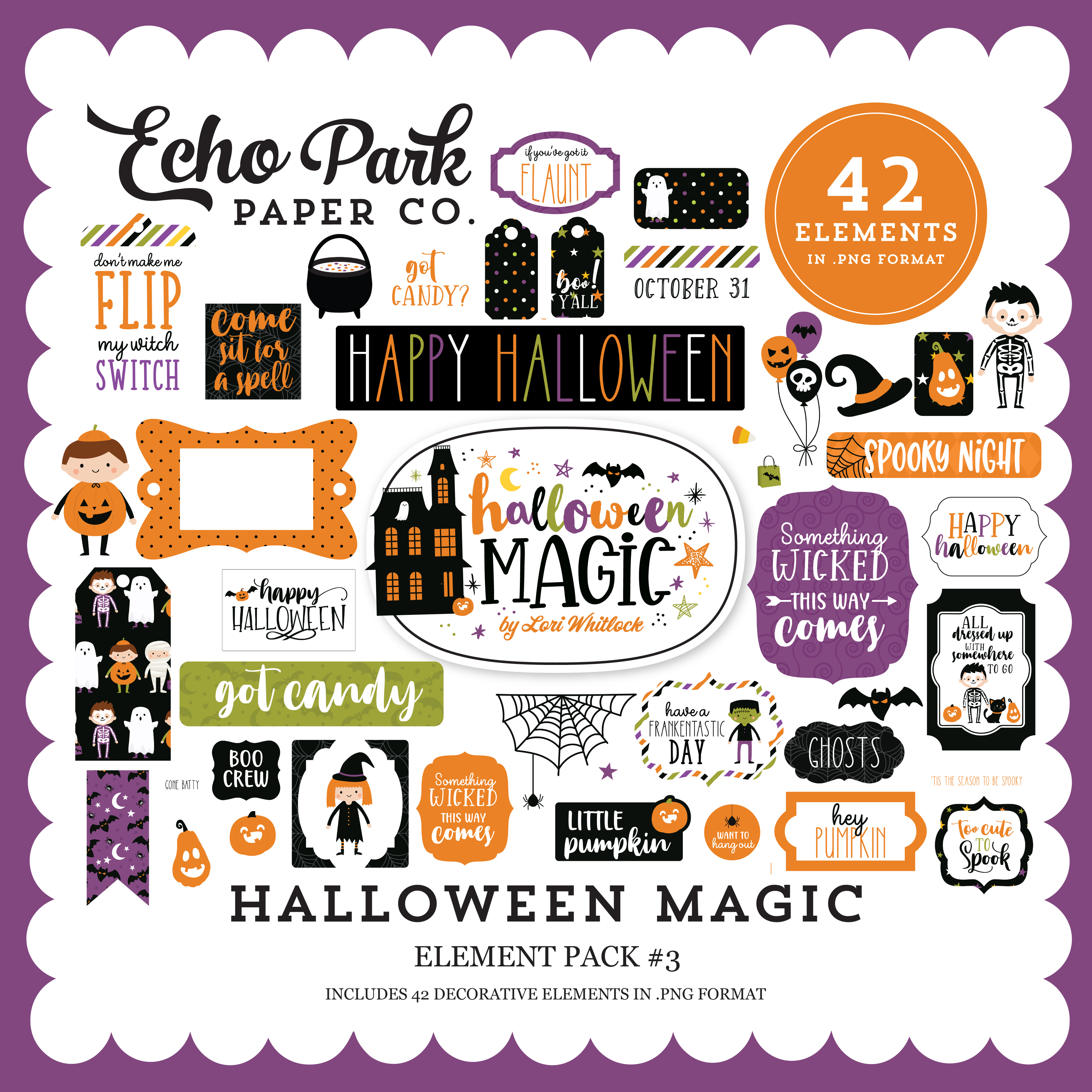 Halloween Magic Element Pack #3