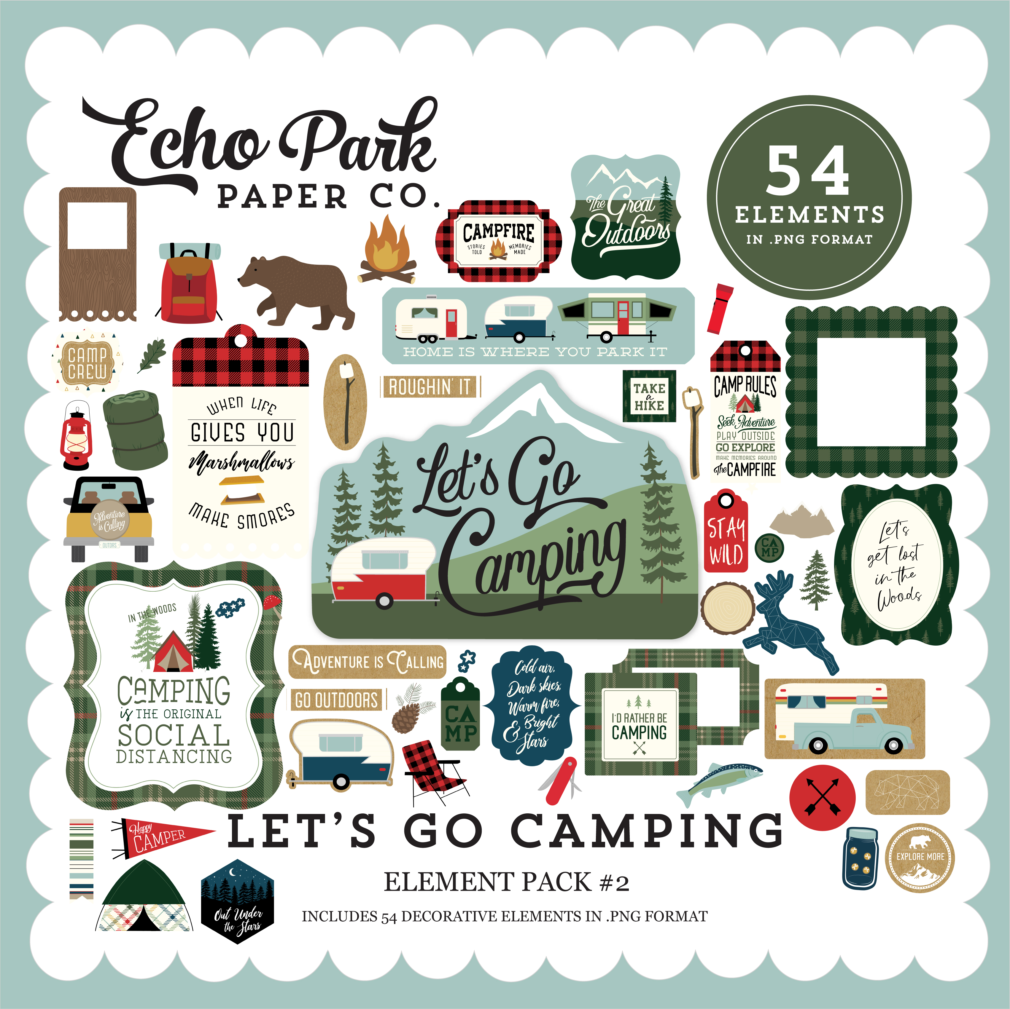 Let's Go Camping Element Pack #2