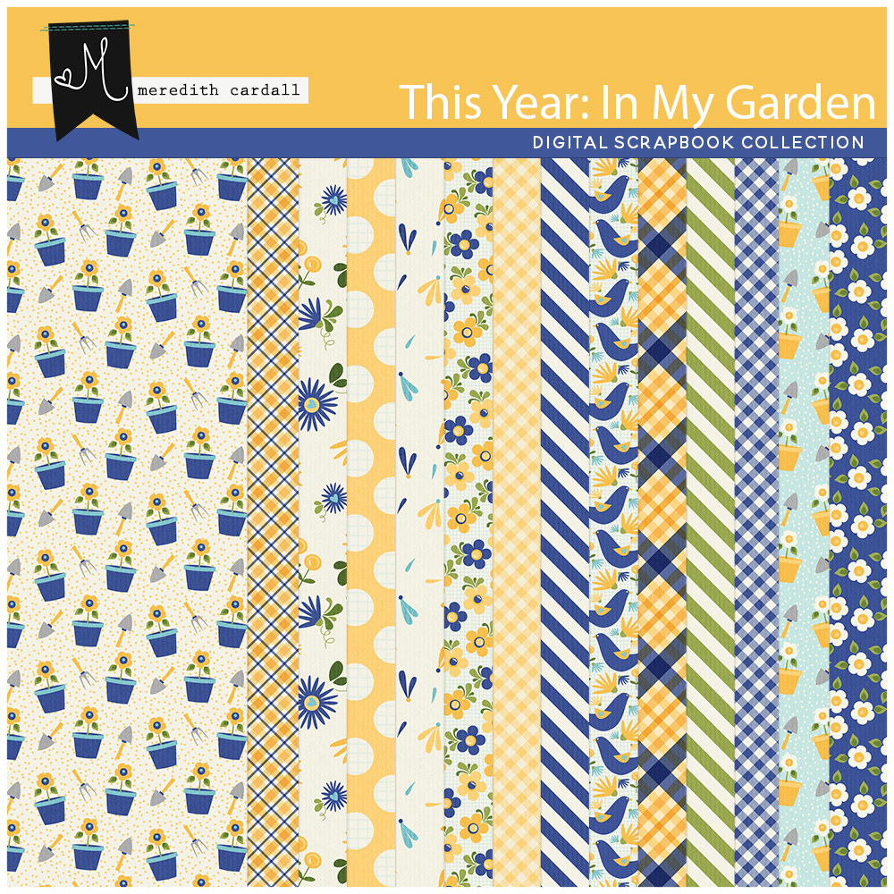 This Year: In My Garden Paper Pack