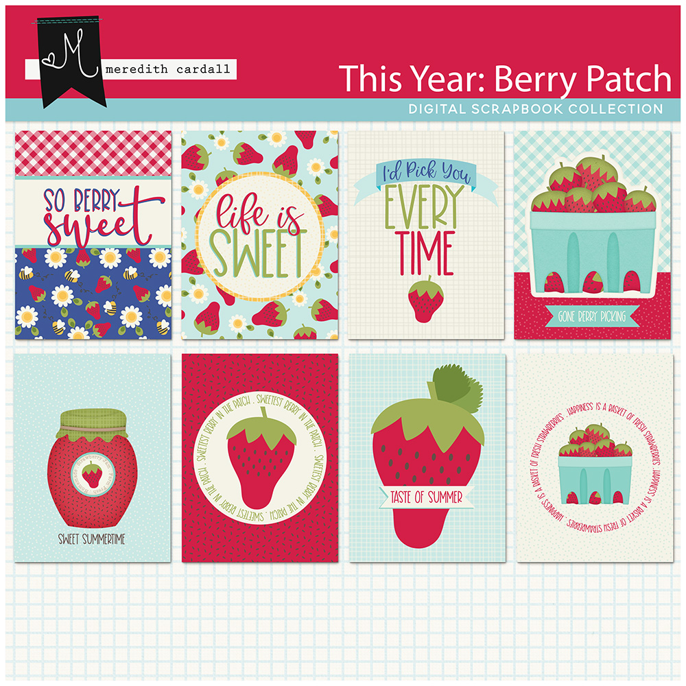 This Year: Berry Patch Journal Cards