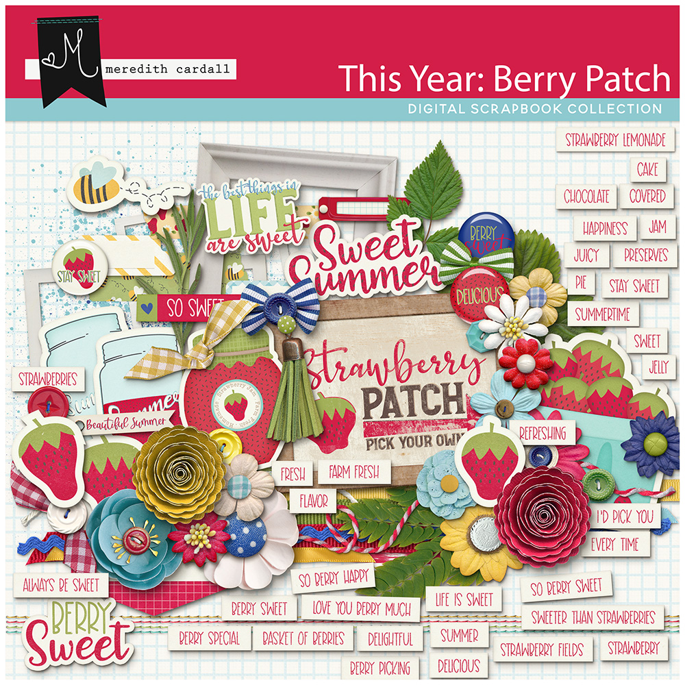 This Year: Berry Patch Element Pack
