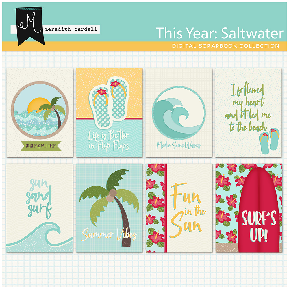 This Year: Saltwater Journal Cards