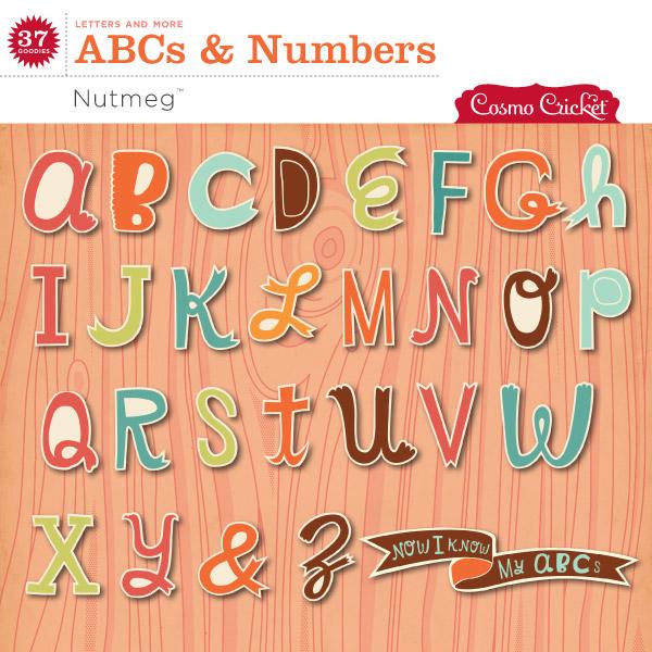 Nutmeg Alphabet