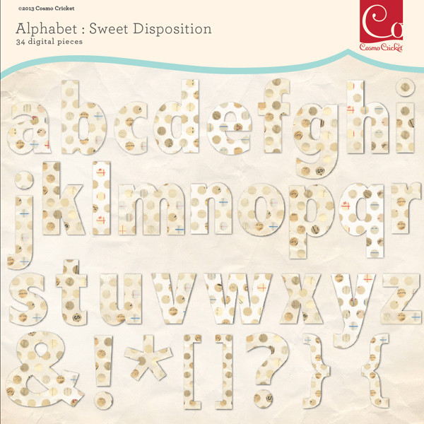 Sweet Disposition Alphabet