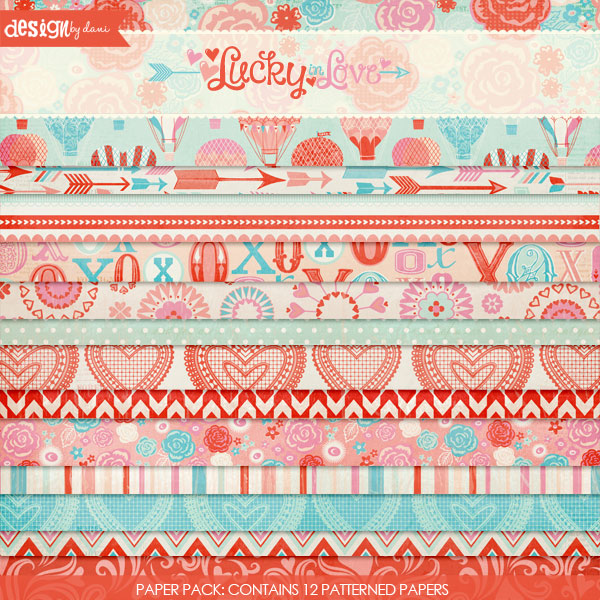 Lucky In Love Paper Pack